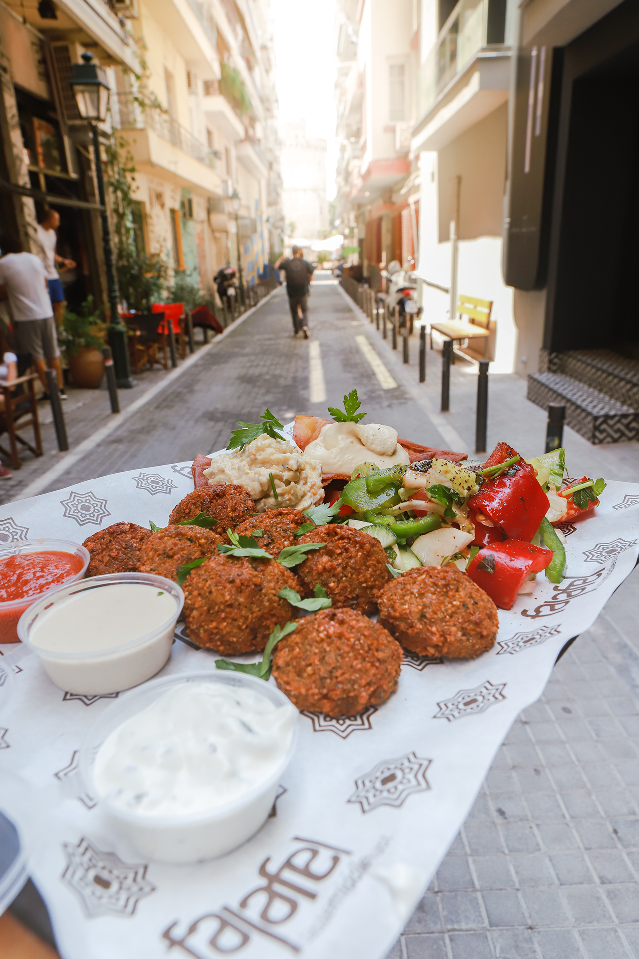 There is a variety of street food options in Thessaloniki