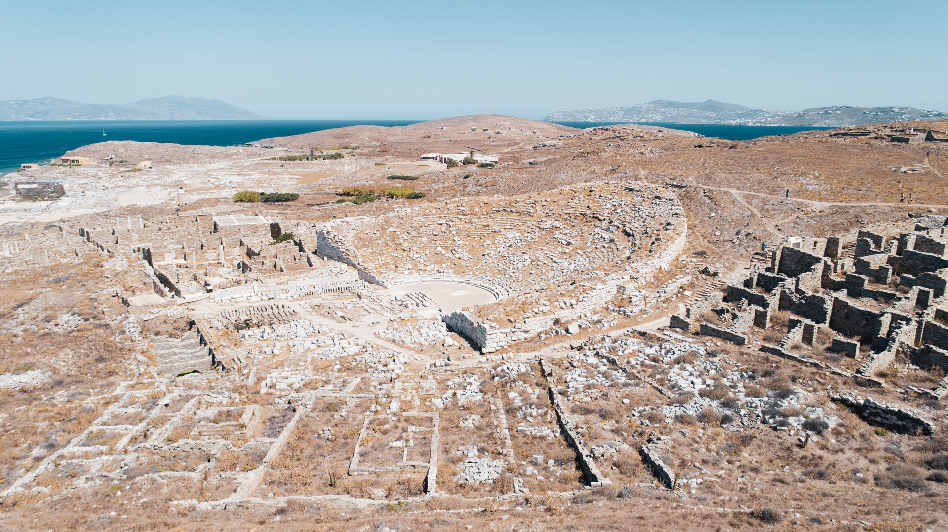 The UNESCO-protected World Heritage Site of Delos