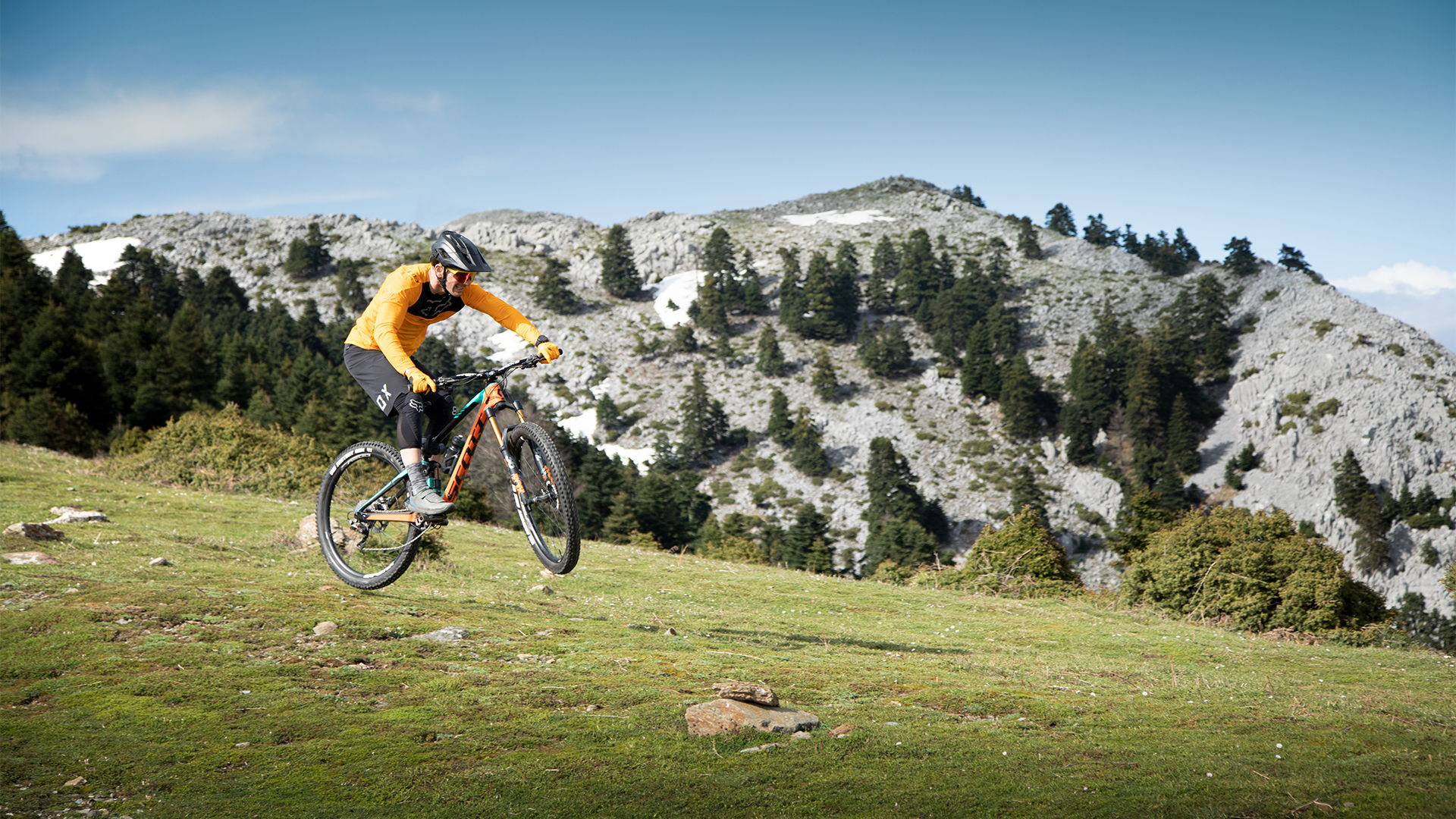 Mountain biking on Mt Dirfis Evia