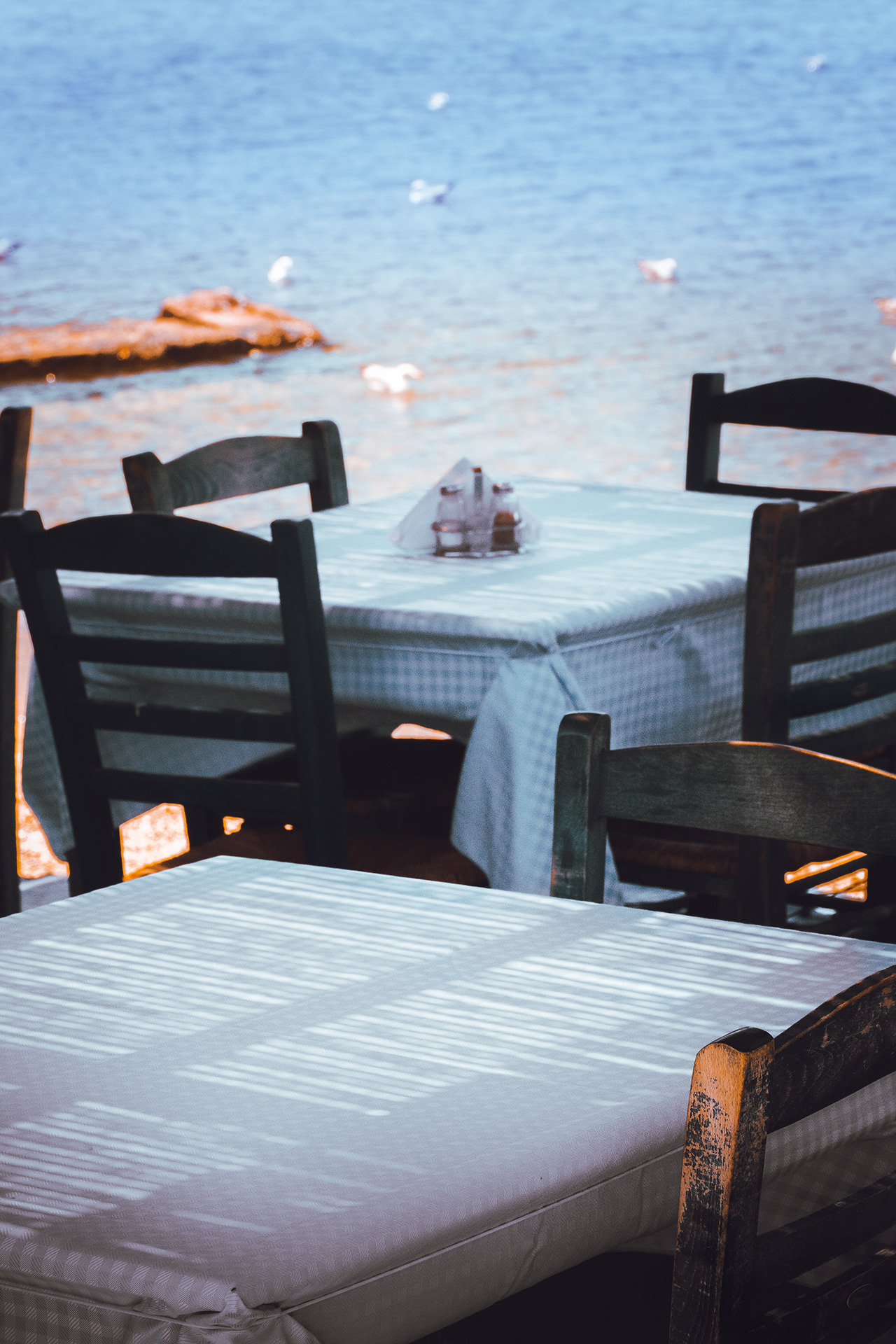 There are a few taverna choices down the coast from Sounion that do the setting justice