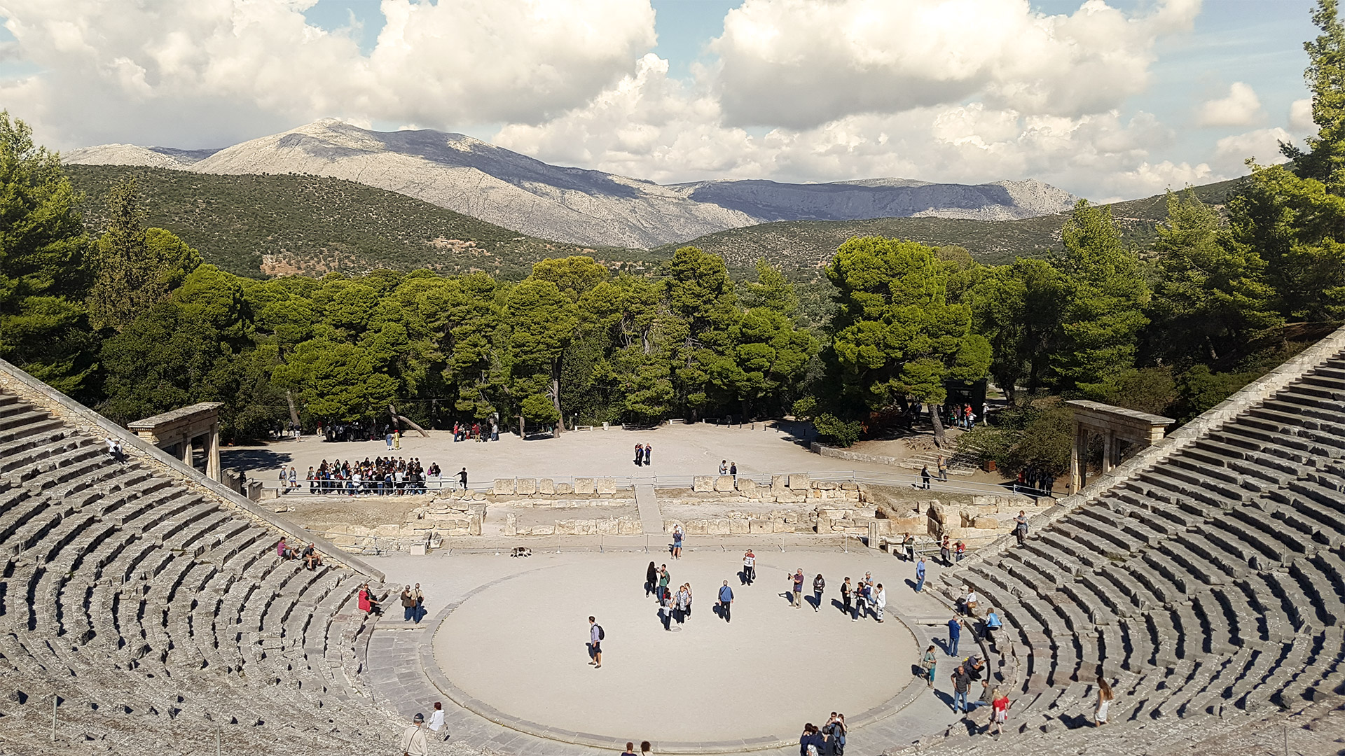 Built in the sanctuary's heyday, in the 4th-century BC during the Hellenistic period, the theatre originally sat 6,000 spectators