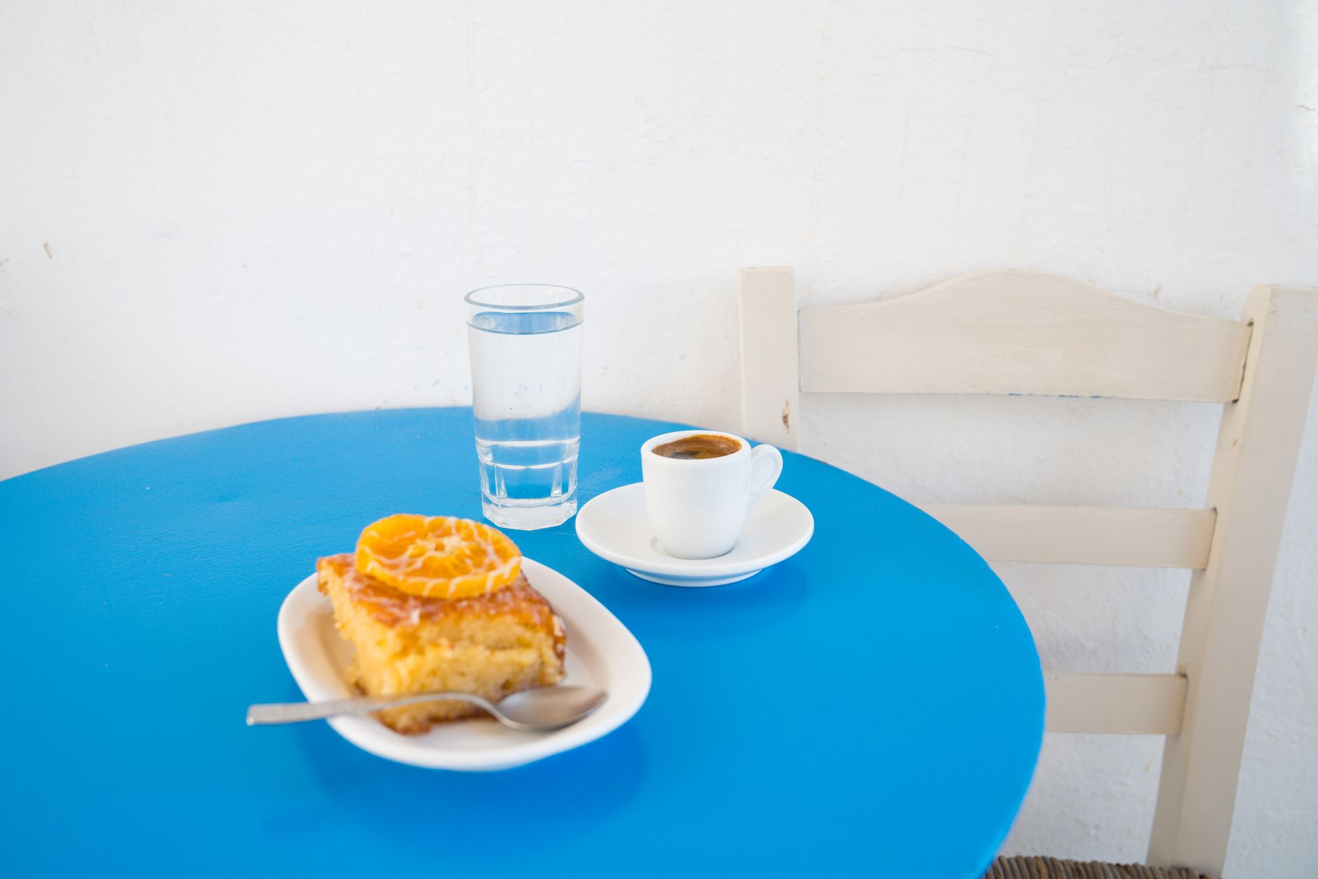 The perfect Greek breakfast in Lefkes village, Paros island