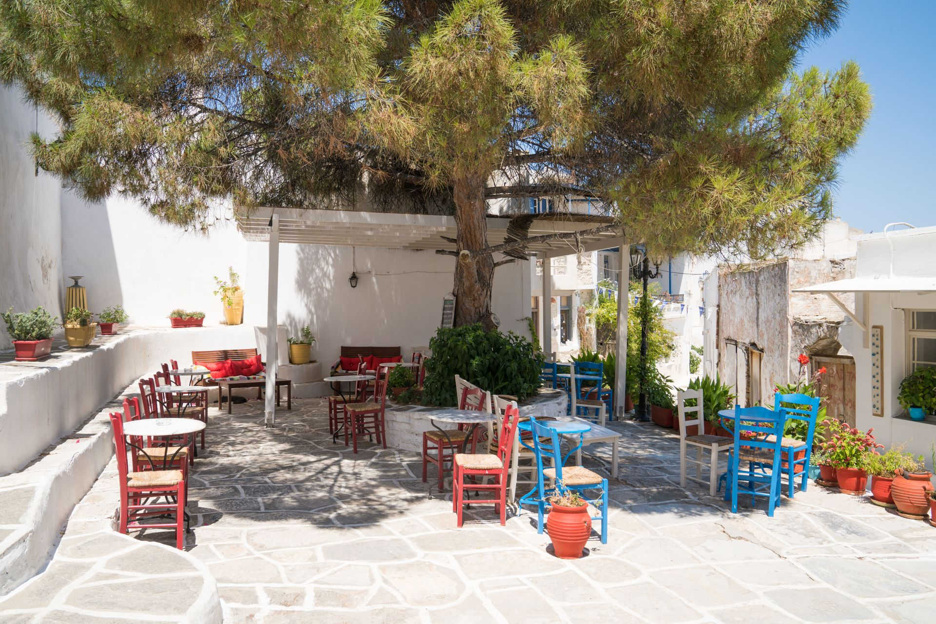 Lefkes, one of the prettiest and best-known villages of Paros