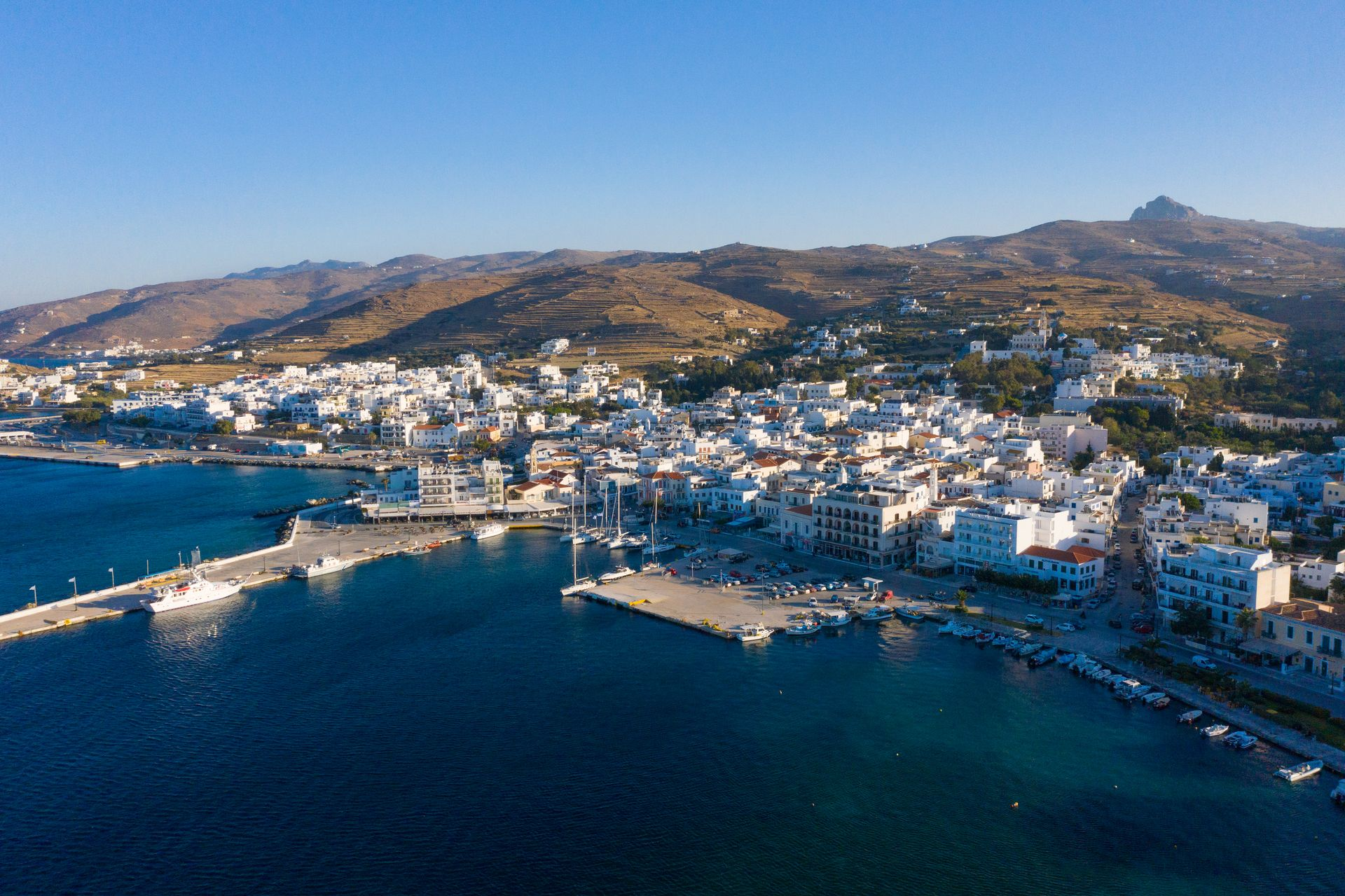 Panagia Evangelistria is your first taste of Hora (main town & port)