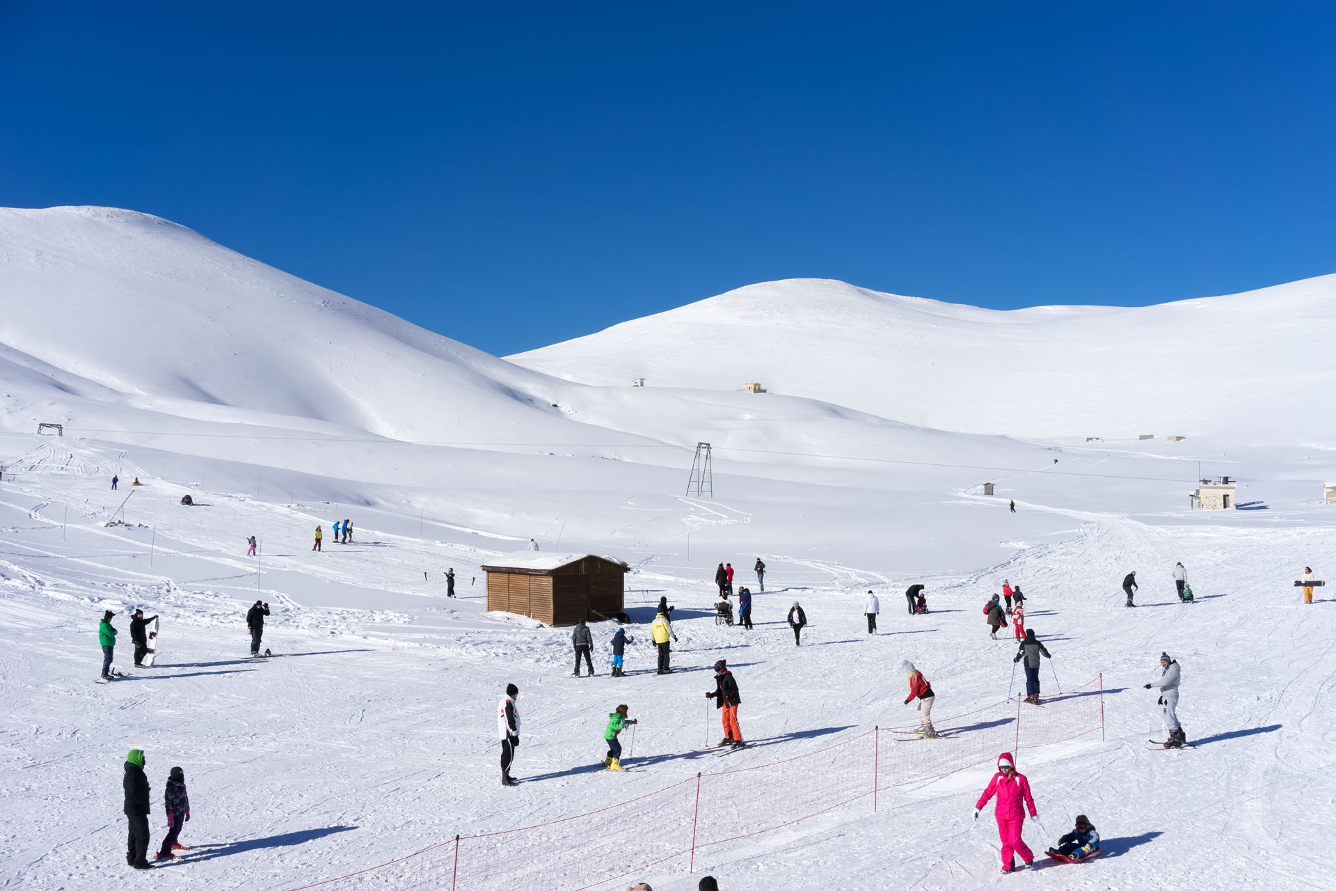 The ski resort of Falakro Mountain is located in the area of Dramas