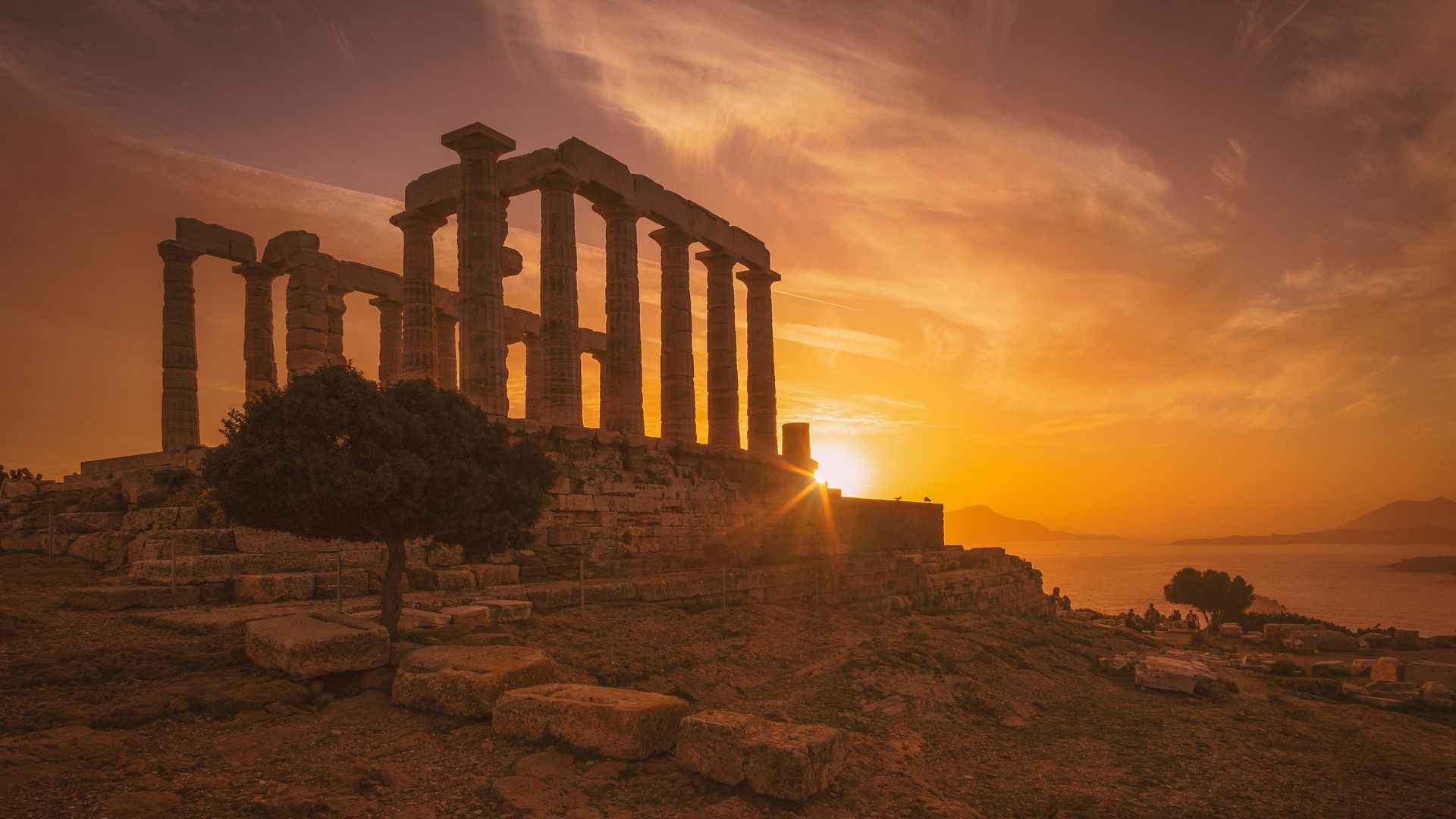 The temple of Poseidon, Sounio, Athens Riviera