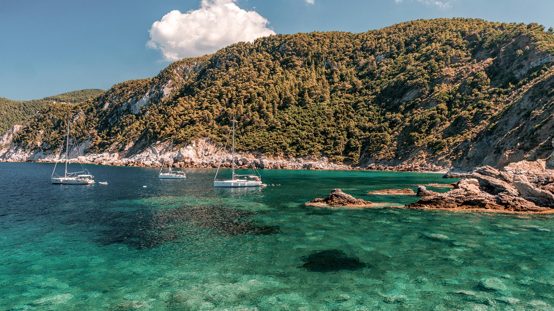 Saint Ioannis Beach in Skopelos island