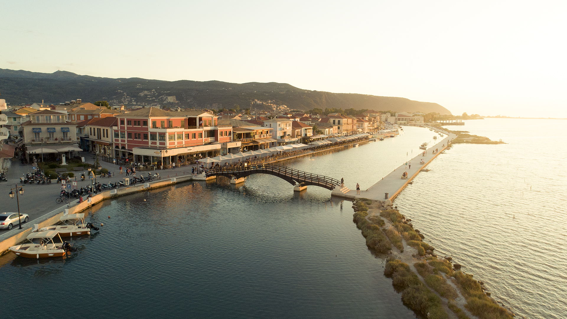 Take a stroll around town of Lefkada and enjoy the sunset