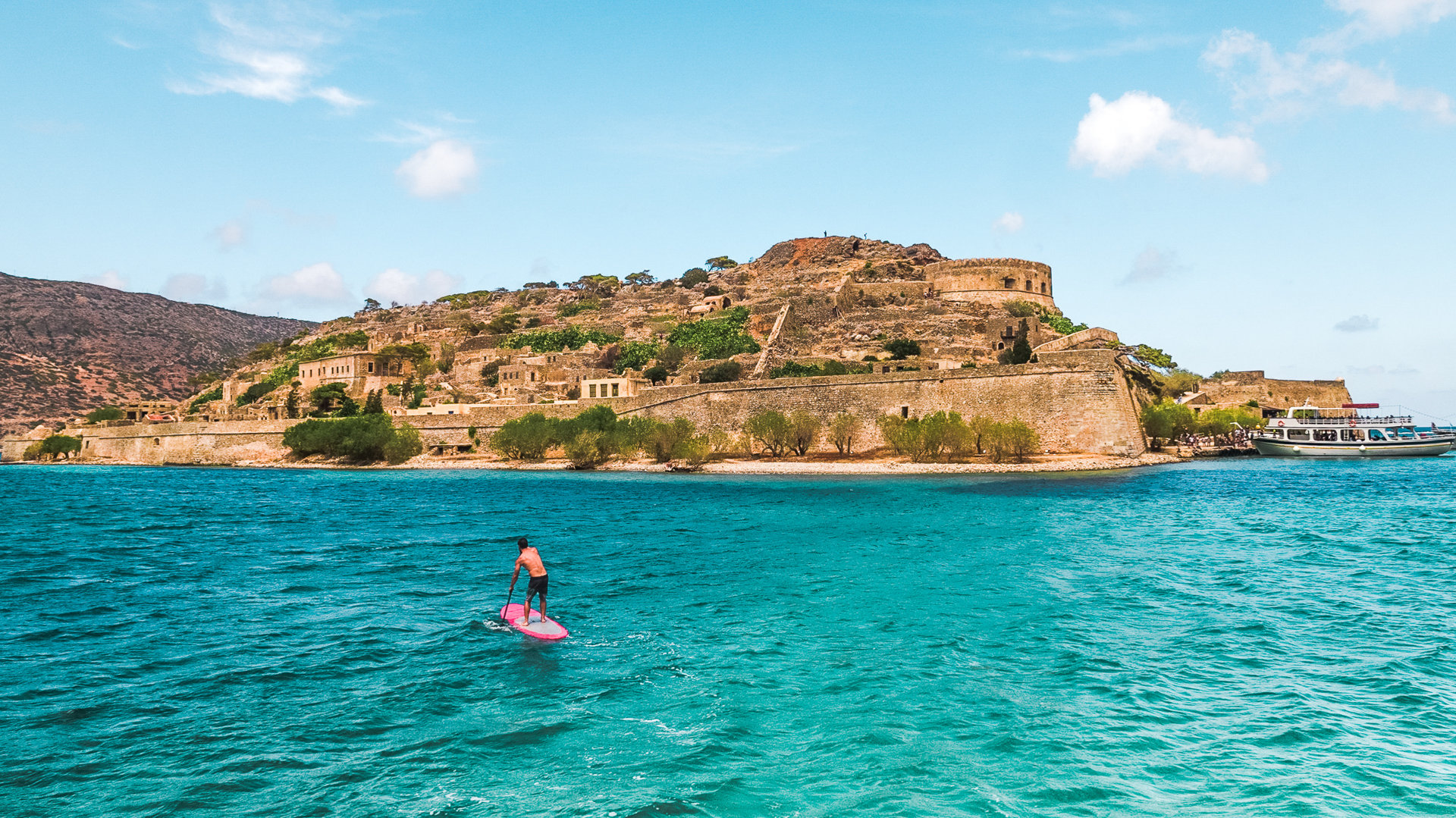 SUP in Spinalonga island, Crete
