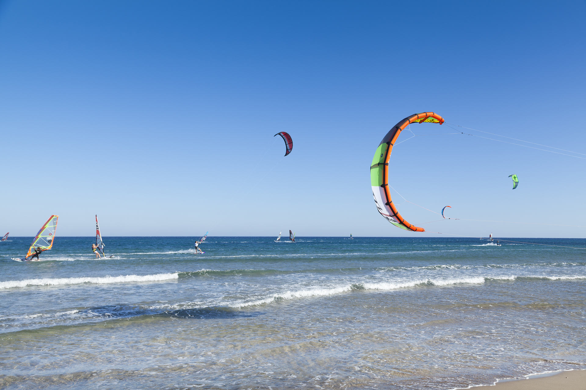 Kite surfers paradise in Rhodes