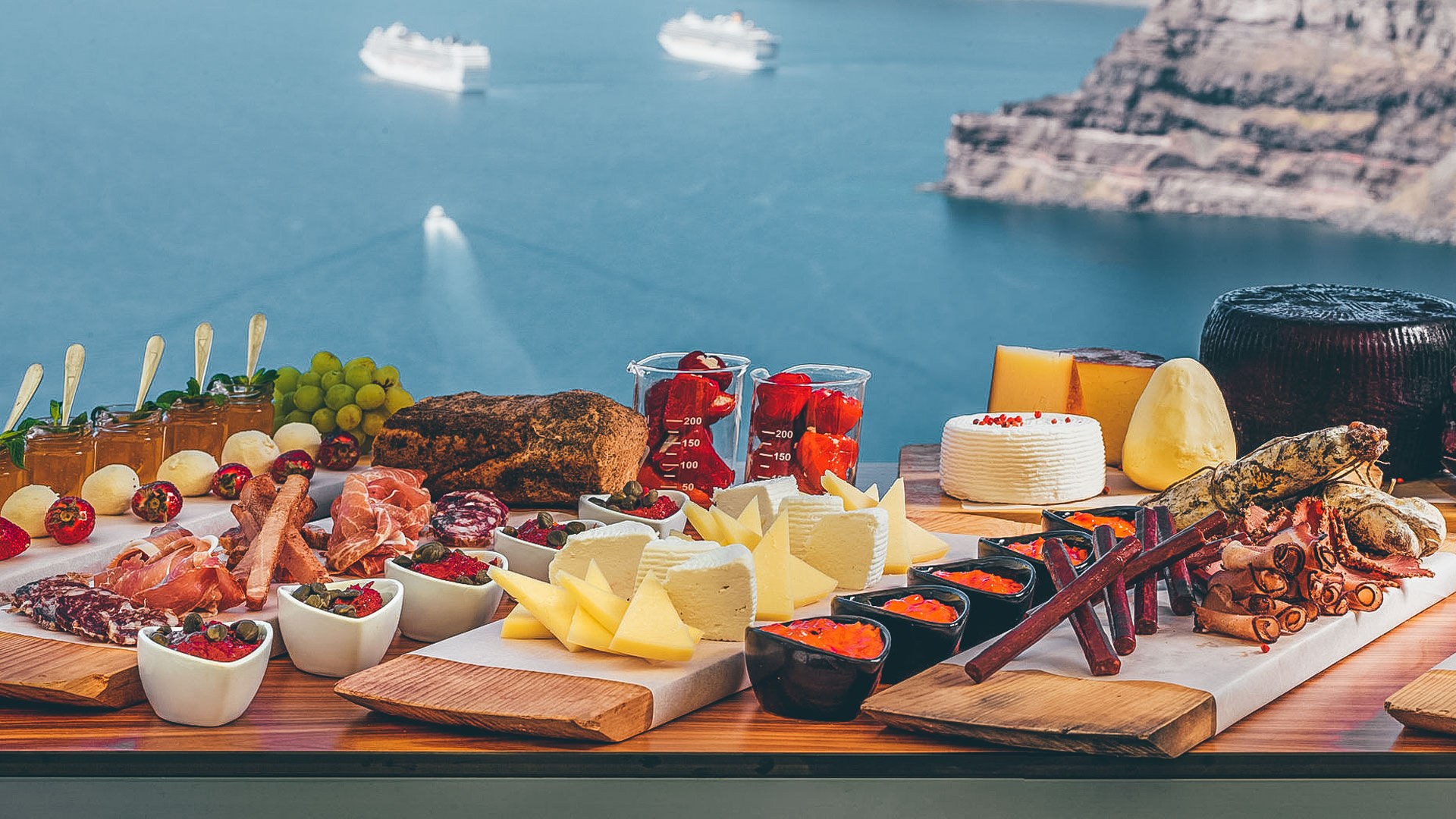 From touring the wineries to wine-tasting accompanied by local cheese and cold cuts this is where Santorini has chosen to bottle much of its authenticity-venetsanos_winery