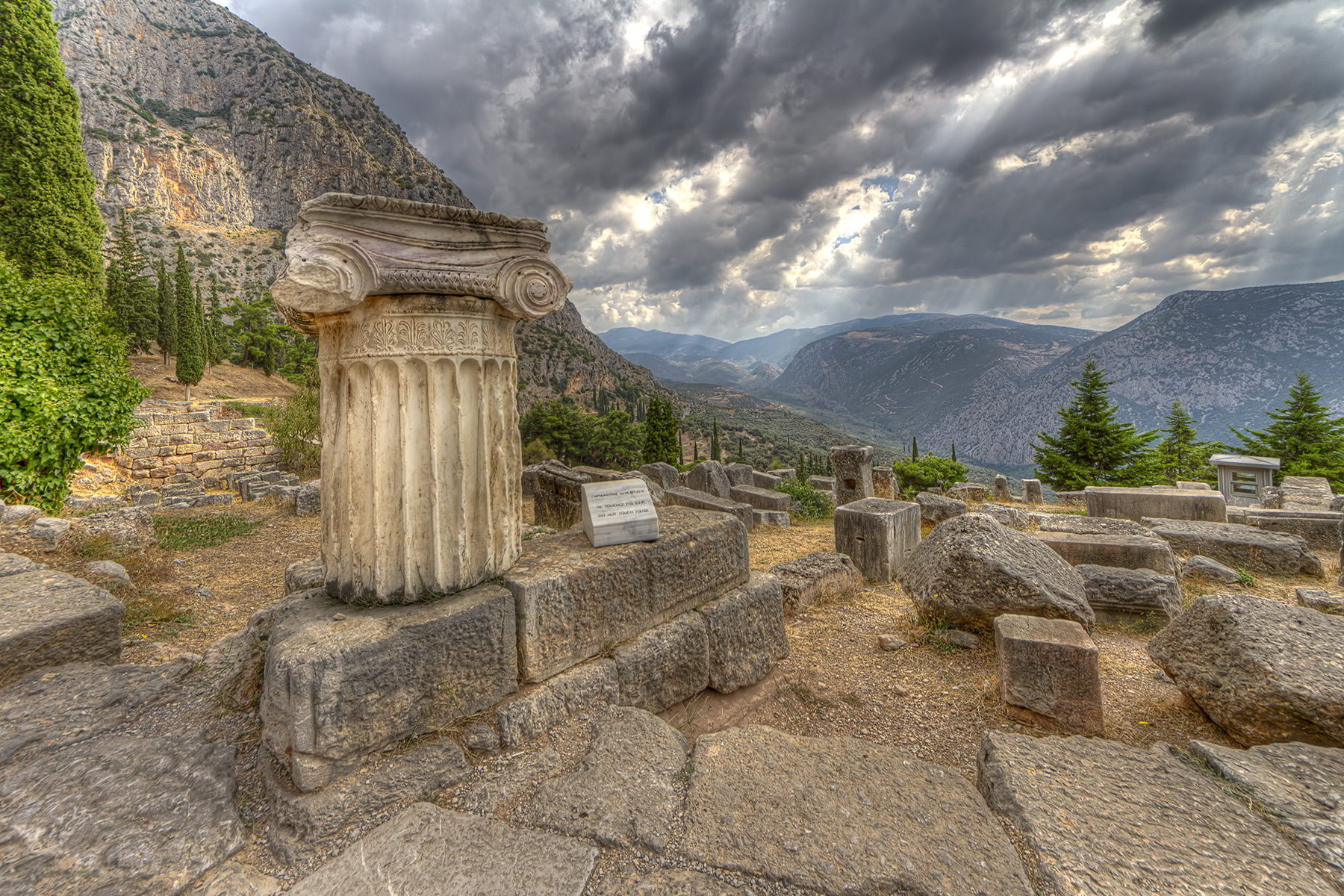 A view from the mountain in Delphi