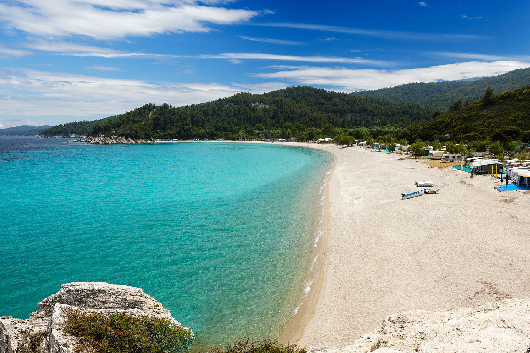 Armenistis beach in Halkidiki, Greece