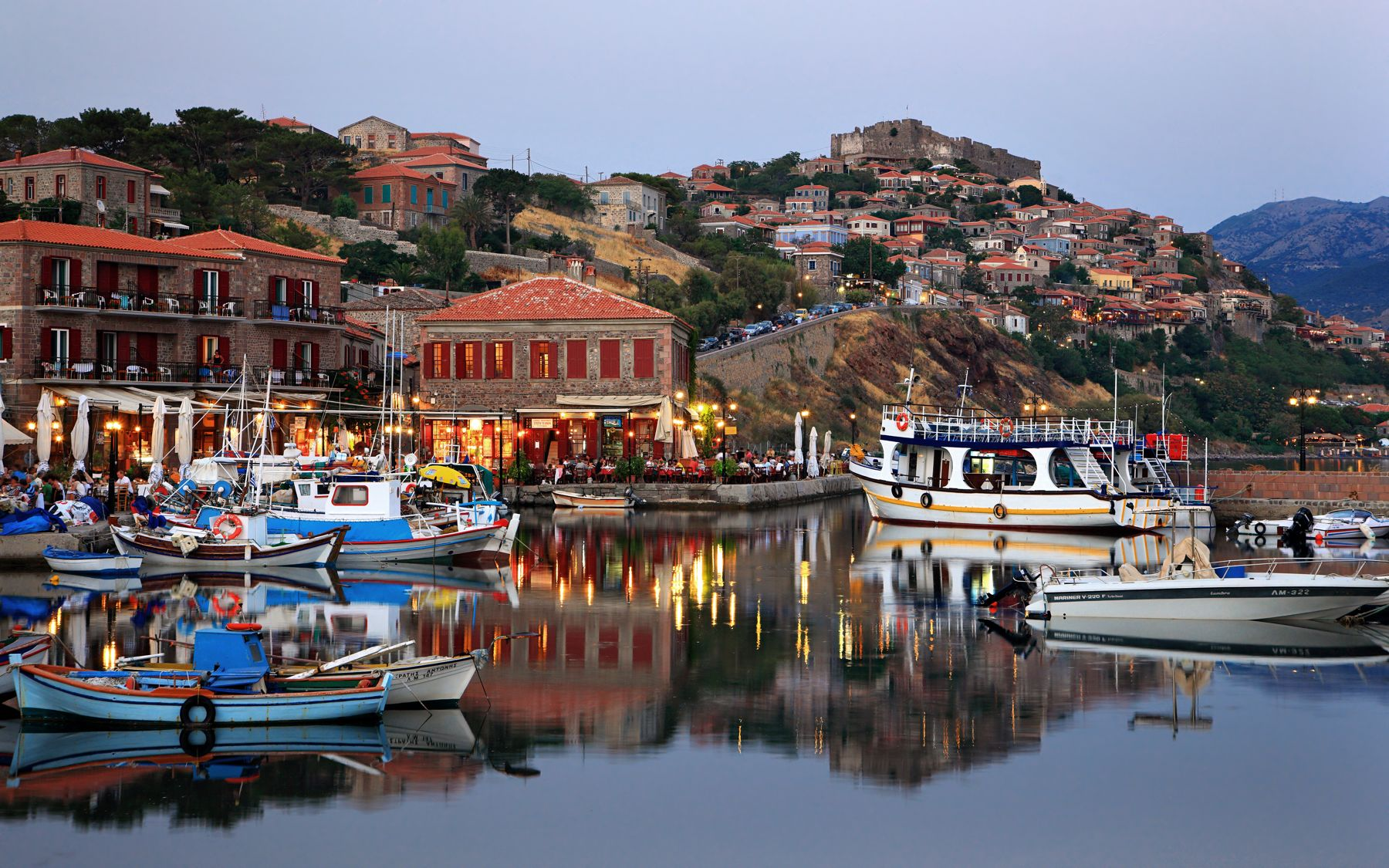 Molyvos, castle town by the sea
