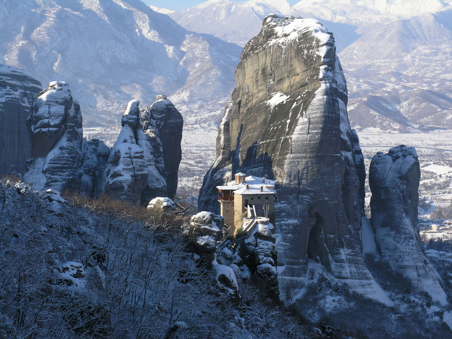 Snow over the monasteries