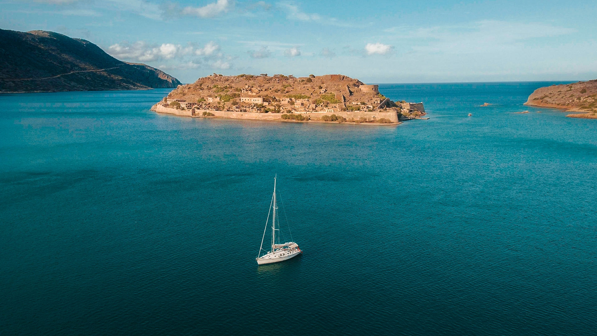 Spinalonga islands in crete