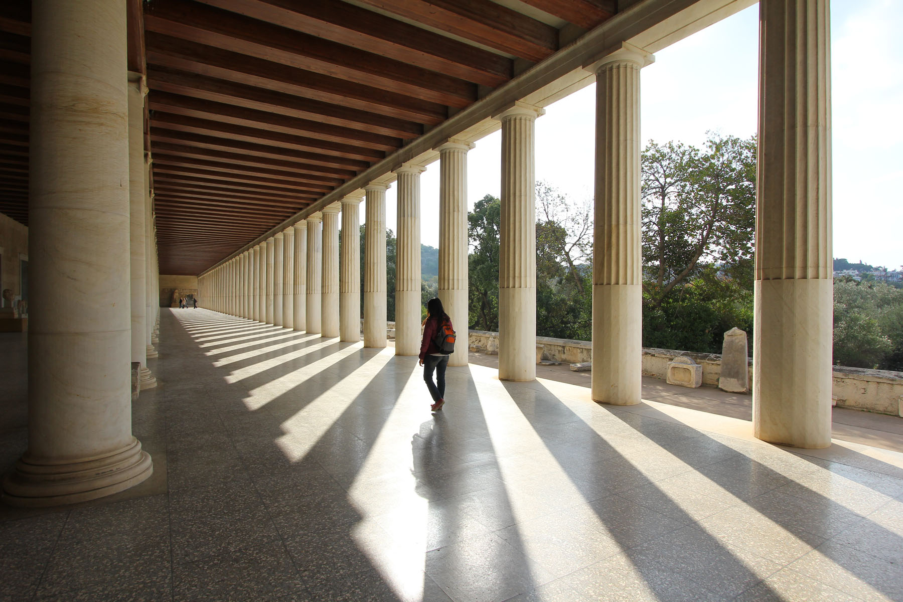 The Ancient Agora in the centre of Athens