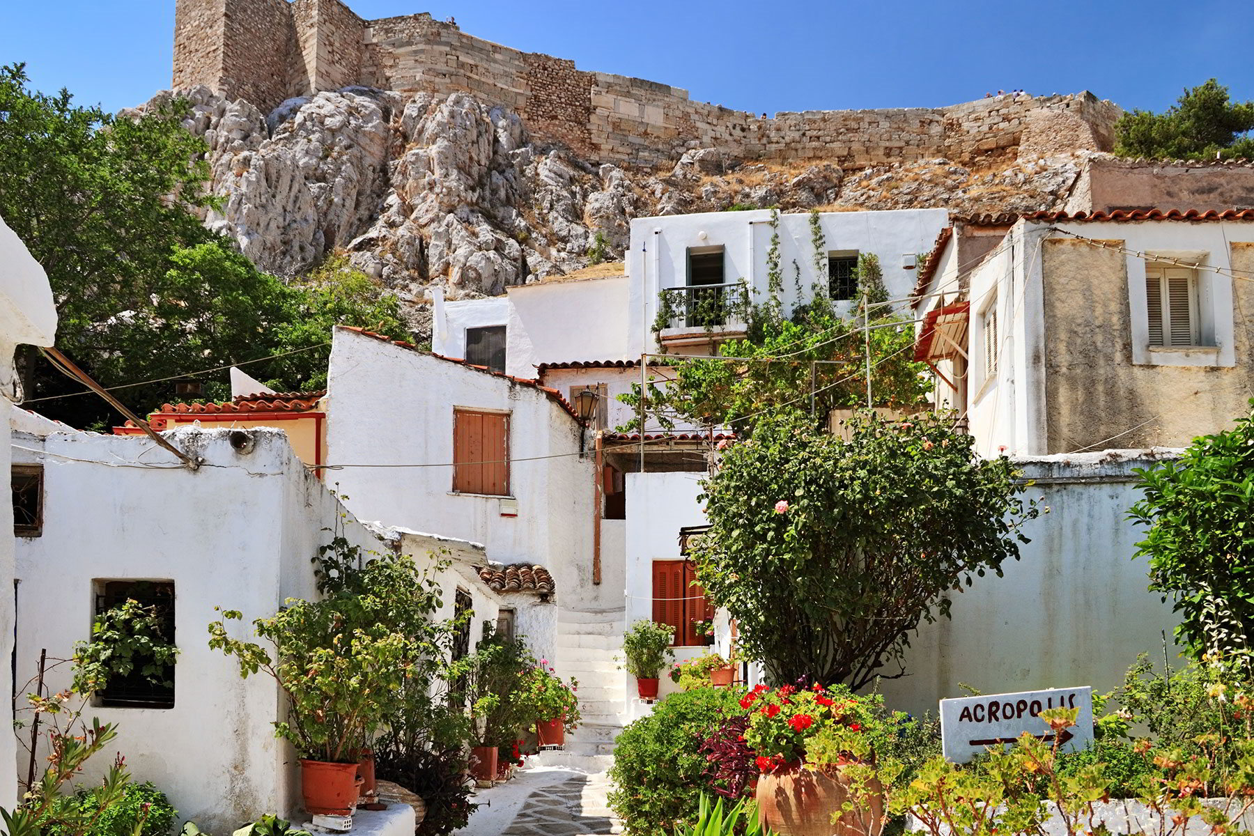 The neighbourhood of Anafiotika under the Acropolis
