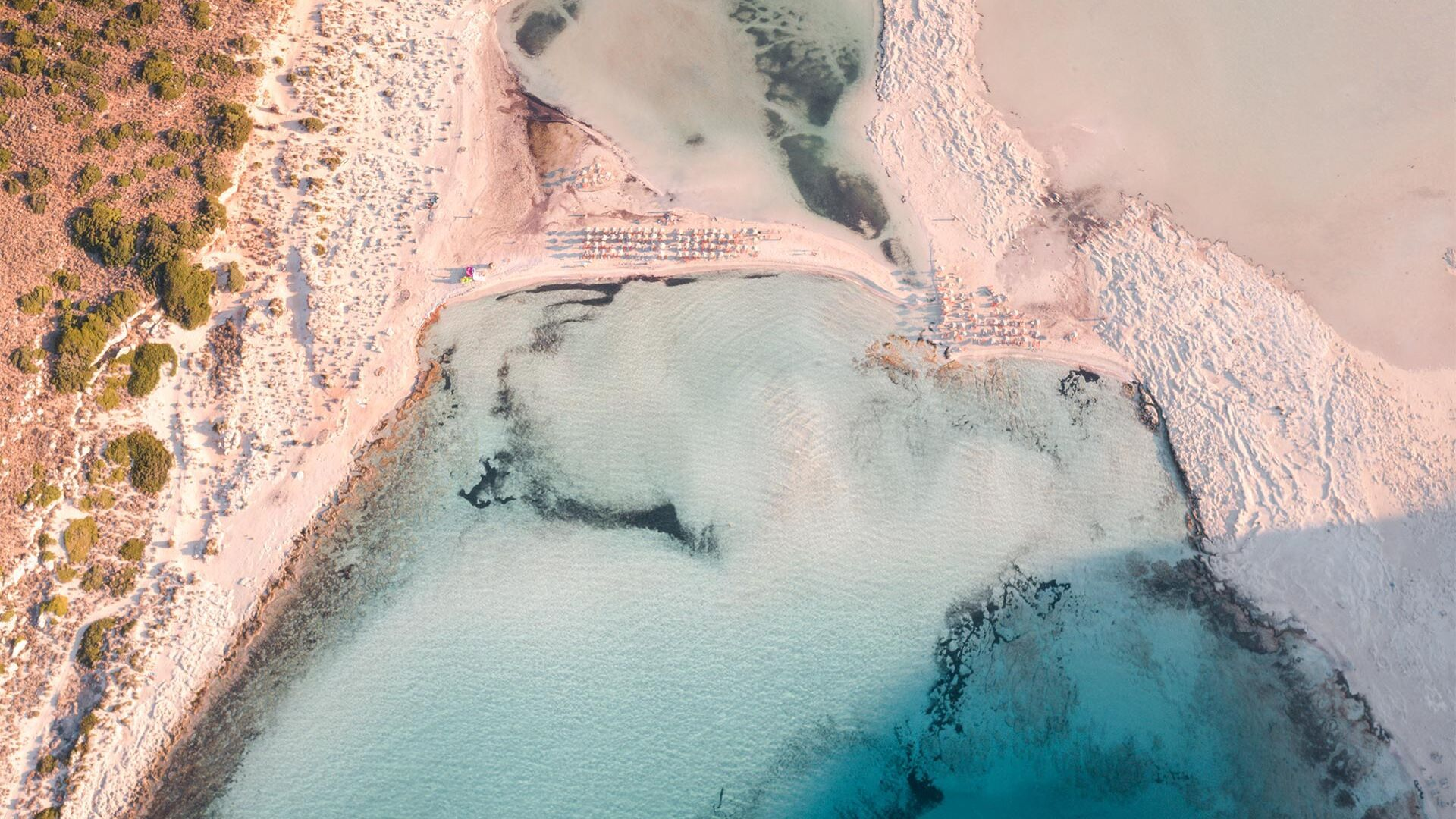 Balos beach from above