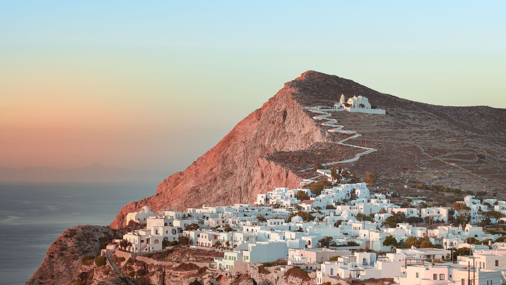 Chora of Folegandros and the Church of Panagia