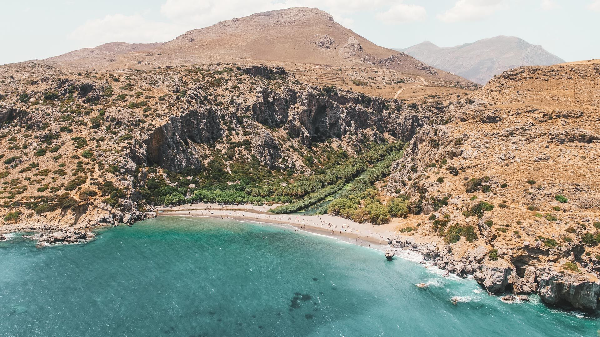 Preveli beach from above