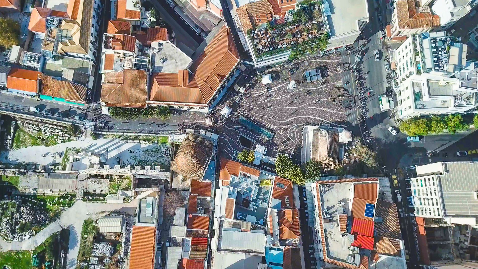 Monastiraki square from above