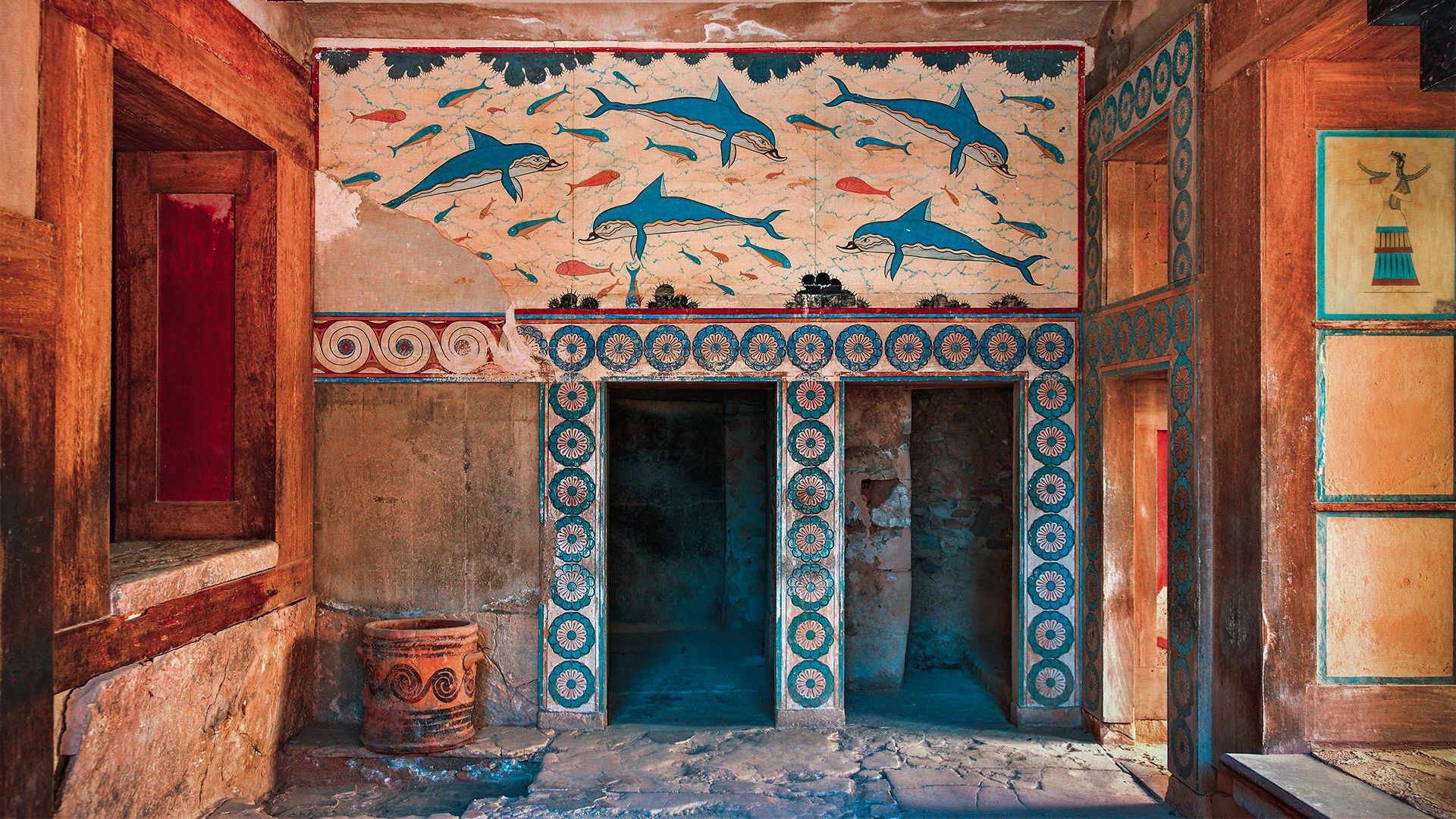 A room at the world-renowned palace of Knossos