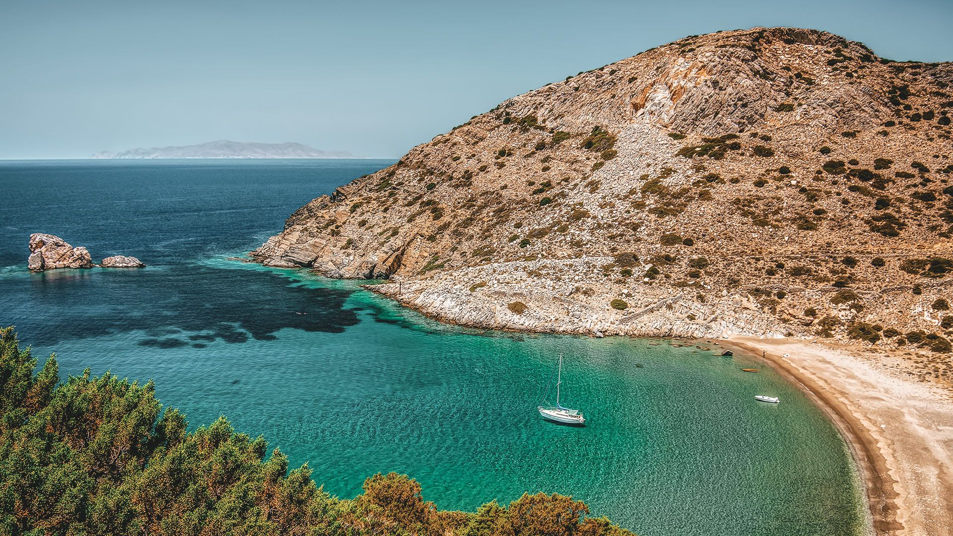 Bay in Syros island