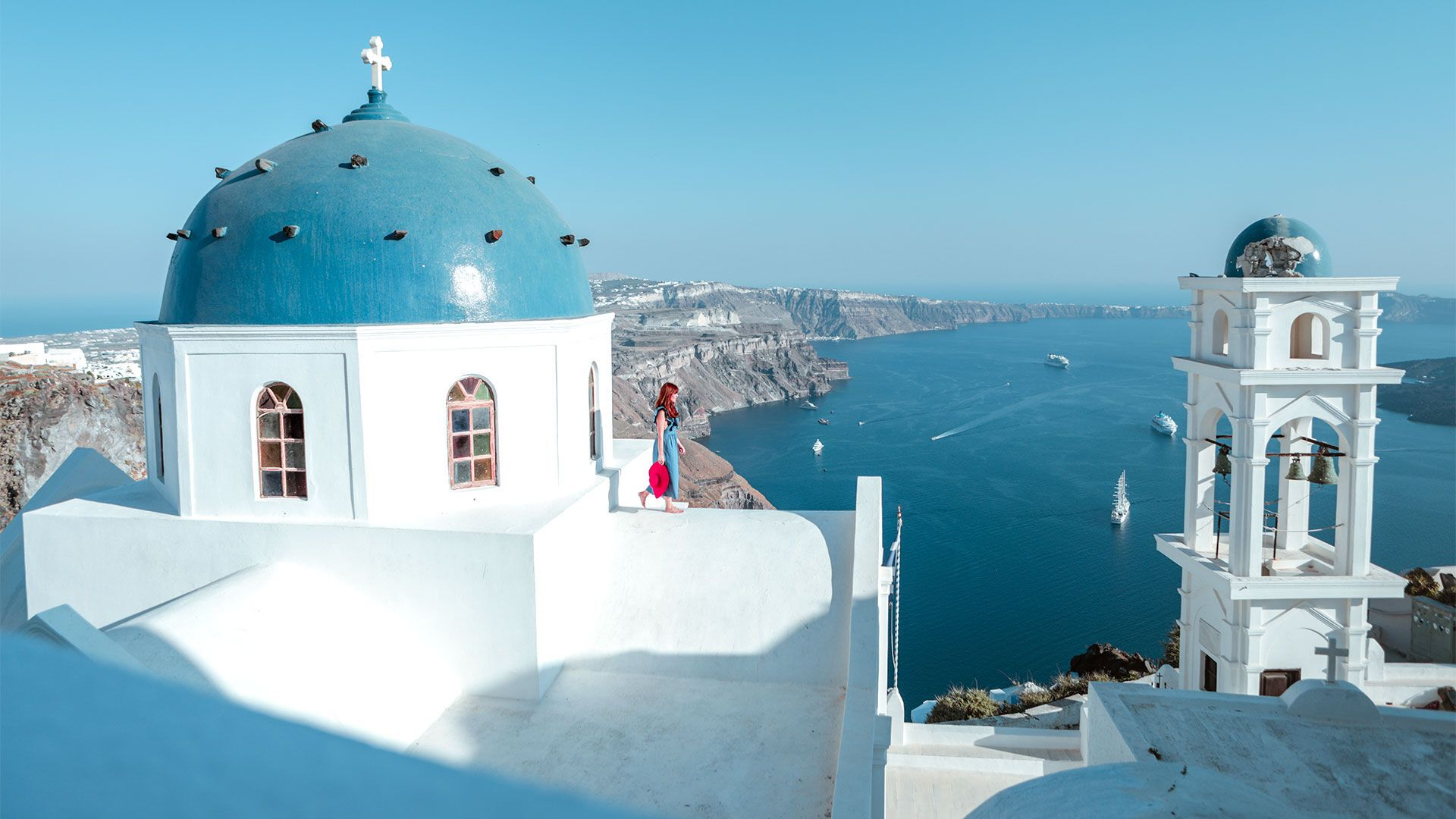 Chapel on Santorini with a Caldera view