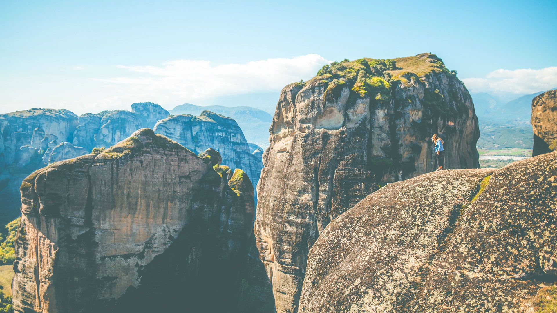Hike among the gigantic rock pillars of Meteora to enjoy truly breathtaking views
