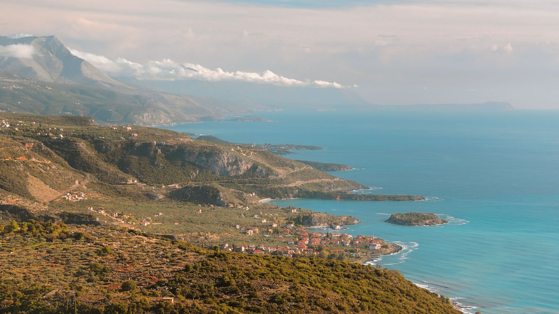 If you're a hiker, don't miss the marvellous network of paths that unwind east of Kardamyli on the slopes of Mt Taygetos