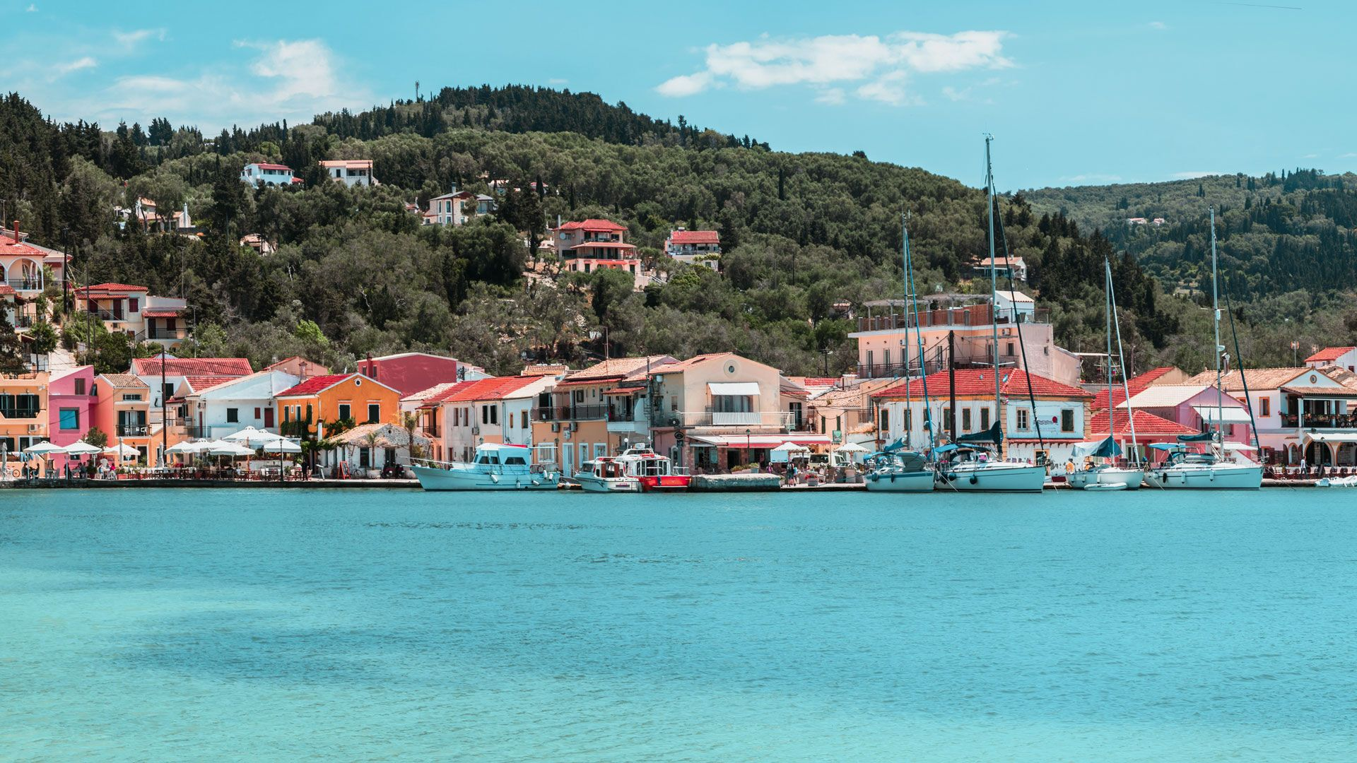 The little village of Lakka, a naturally safe harbour