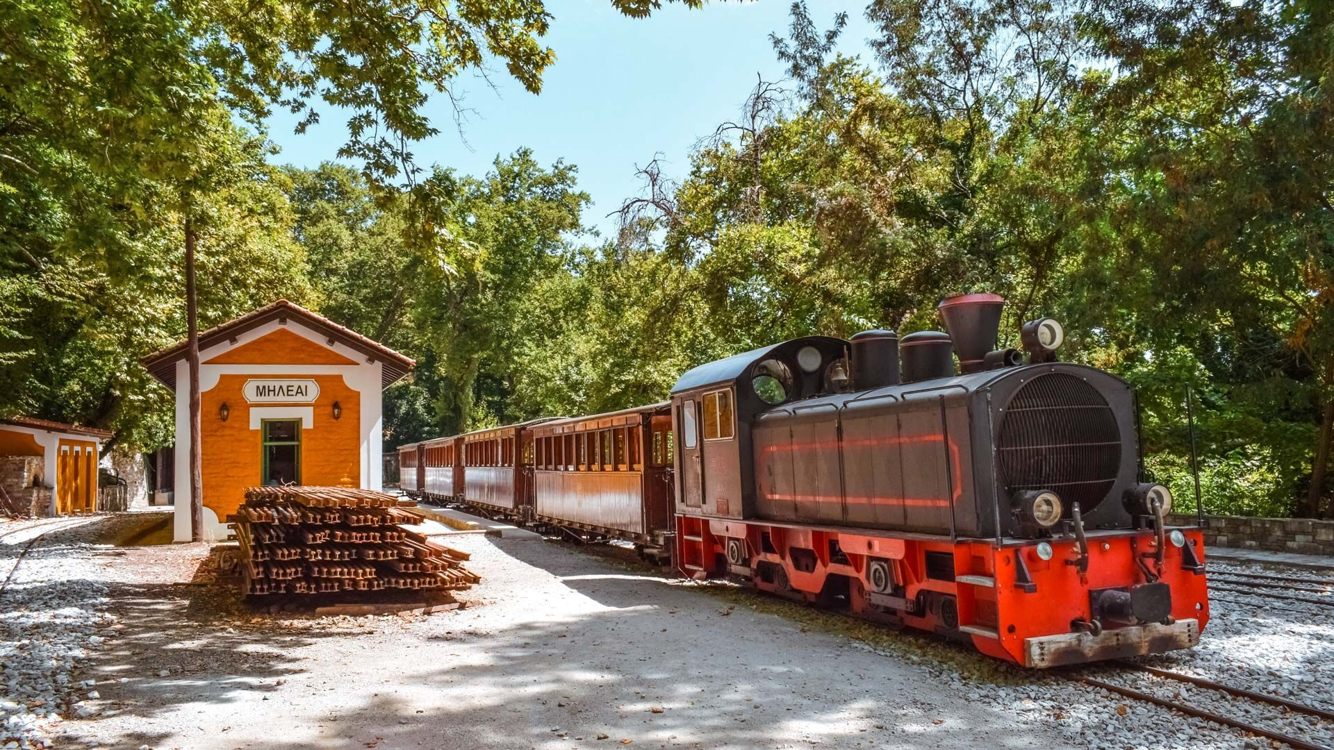 The legendary old steam train of Pelion is popularly known as Moutzouris