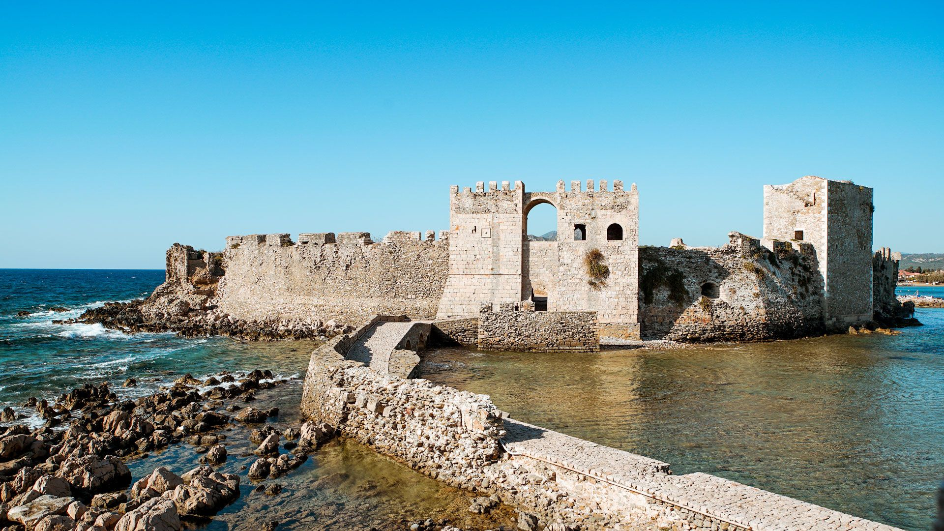As soon as you set foot on the stone bridge of Methoni Castle, you'll be impressed