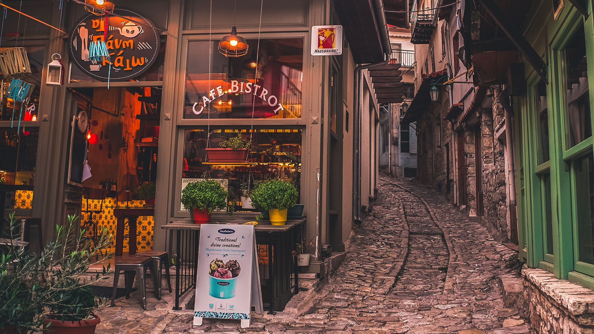 Get lost in the cobblestone alleys of Dimitsana