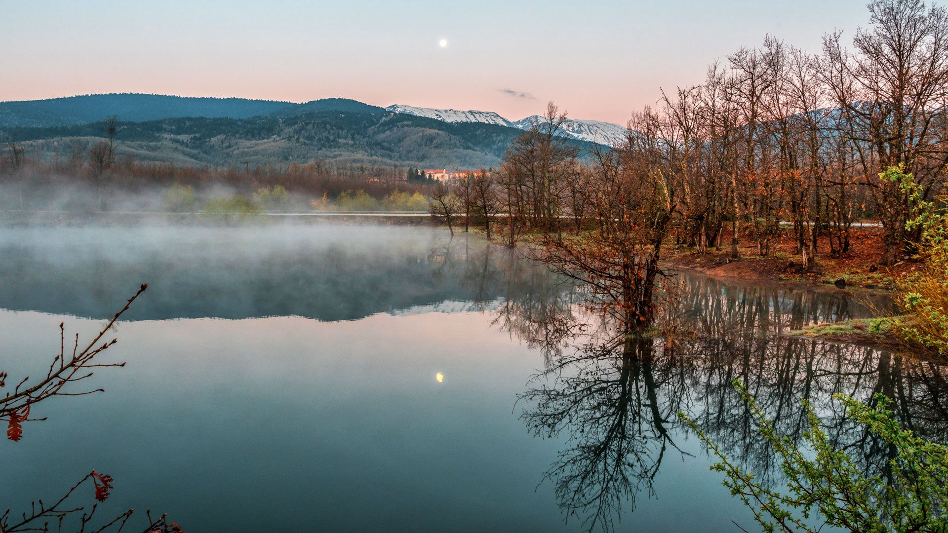 Sunrise on Lake Plastira in Karditsa Region