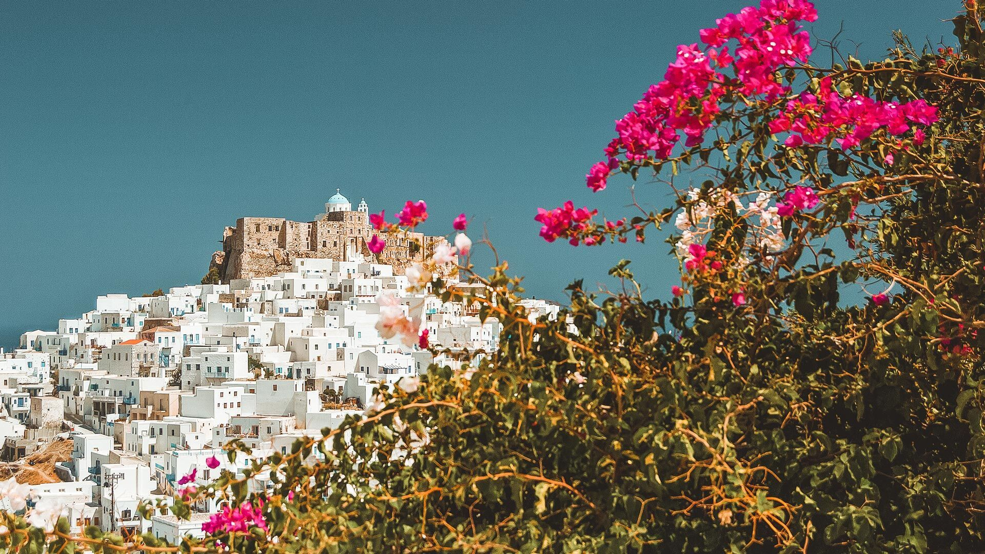 Hora's famous castle, majestic views of the Aegean, windmills and whitewashed homes make up a remarkable traditional settlement