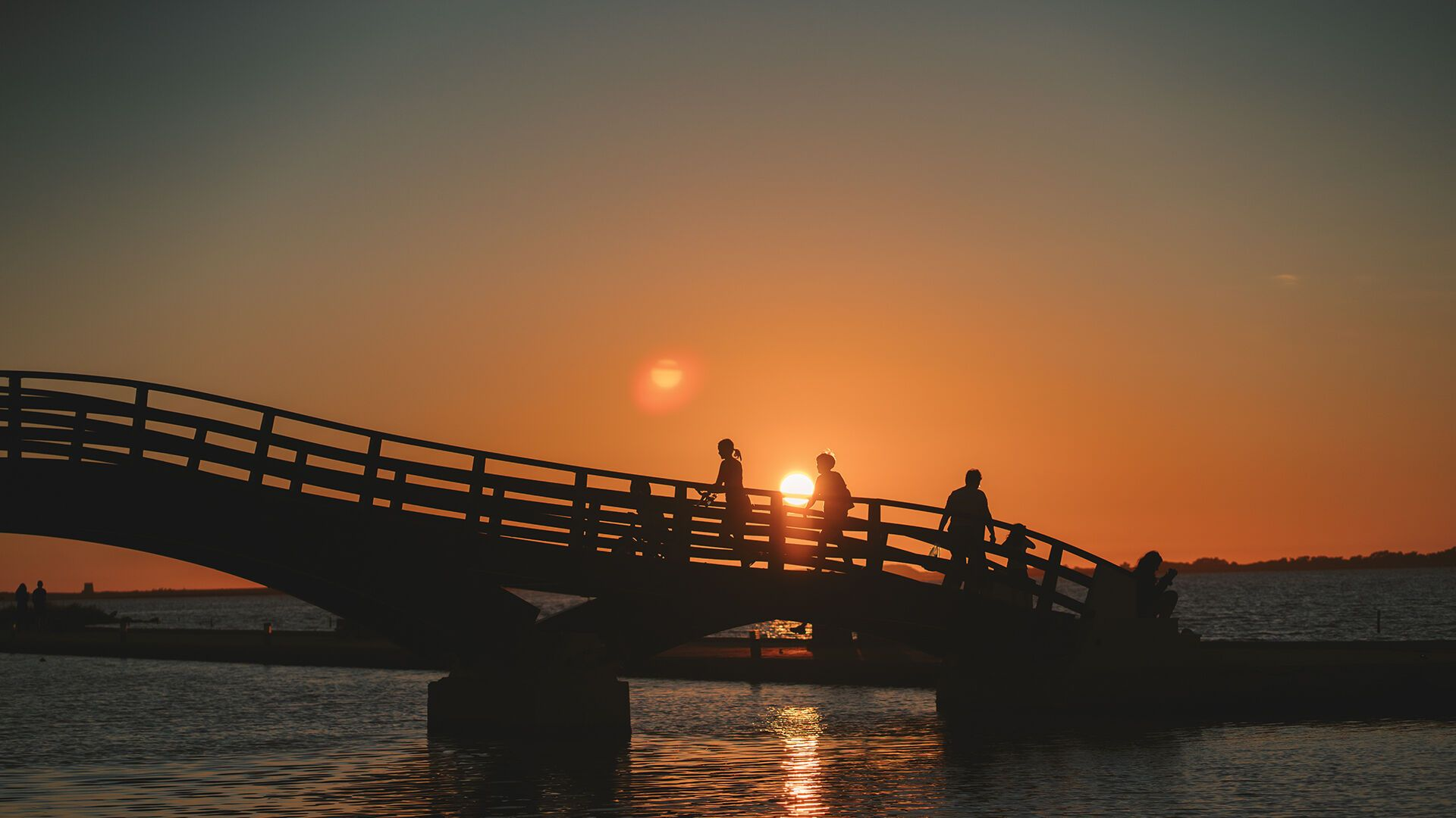 The wooden bridge-one of the island's trademarks and a great sunset spot