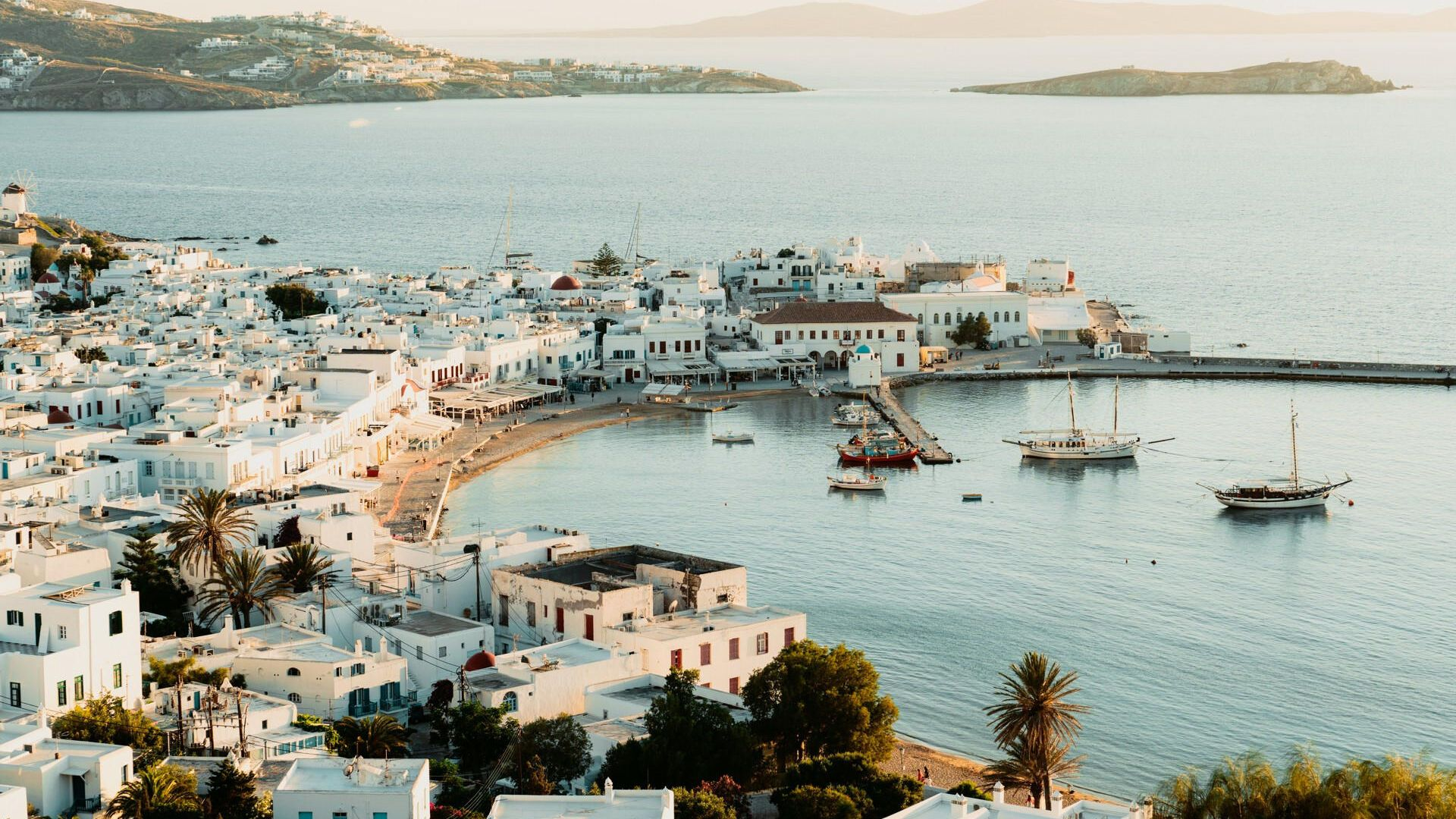 Instagrammable beauty of Mykonos' Hora from above