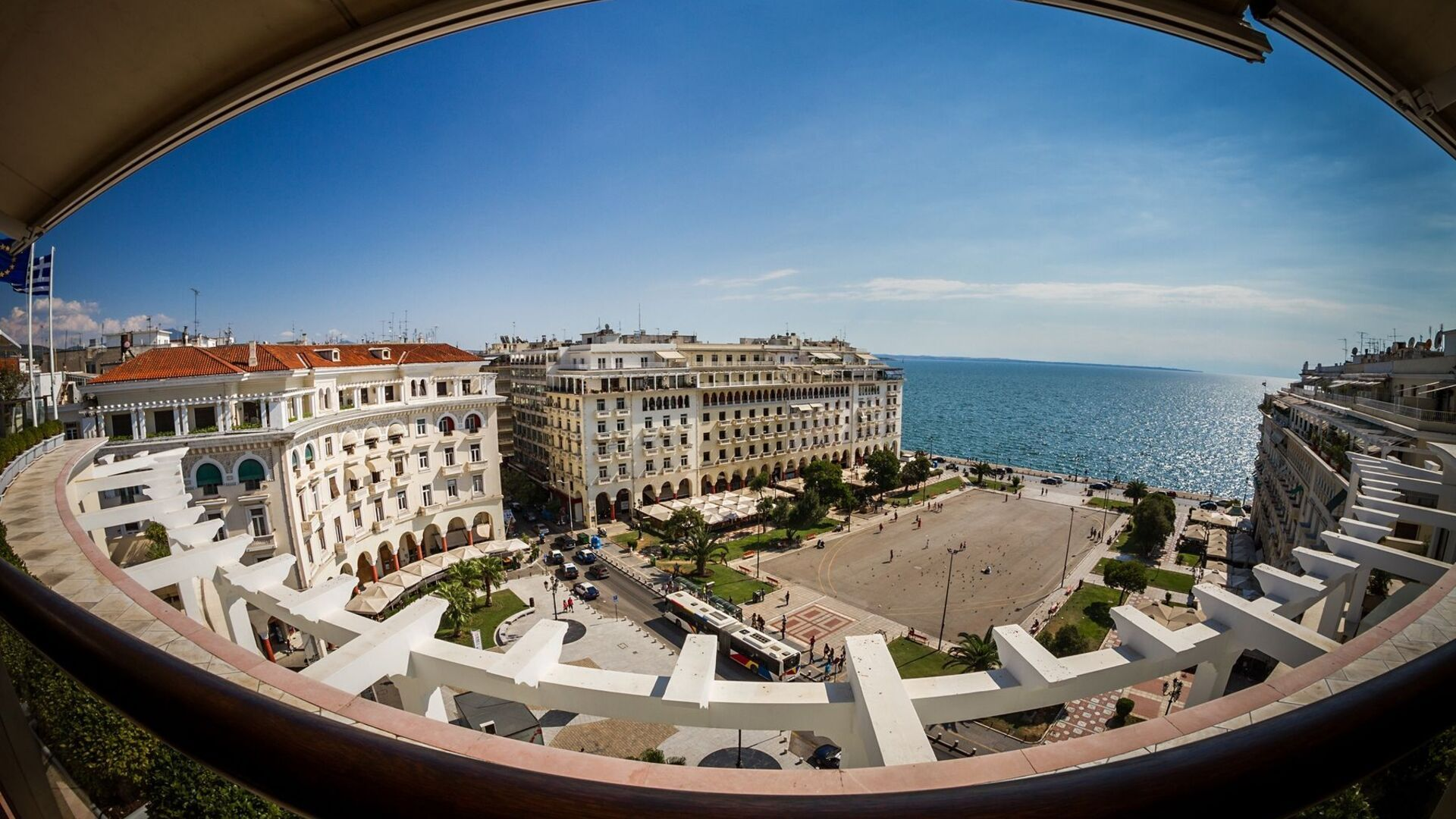 A panoramic view of Thessaloniki
