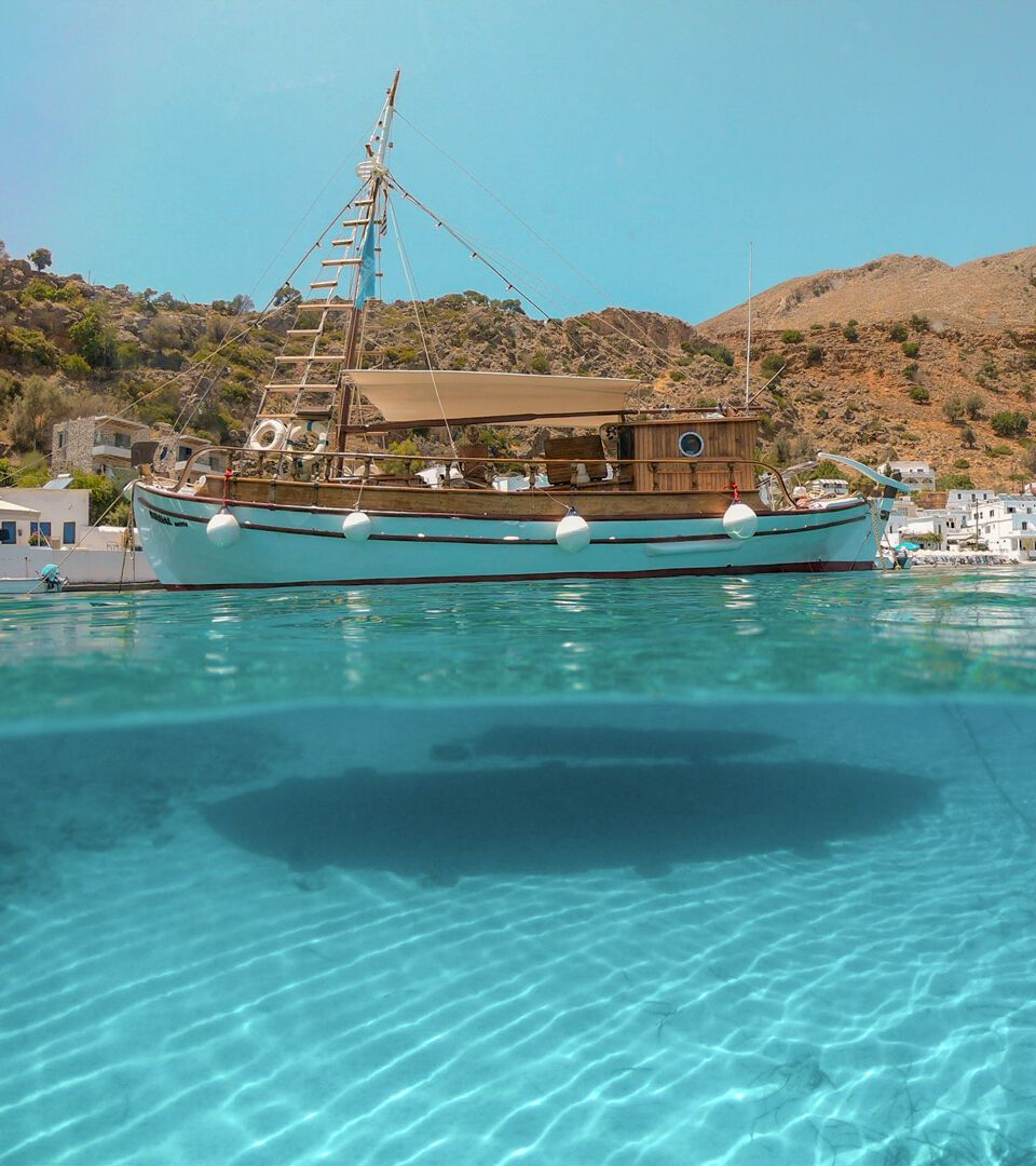 Fishing boat at Loutro