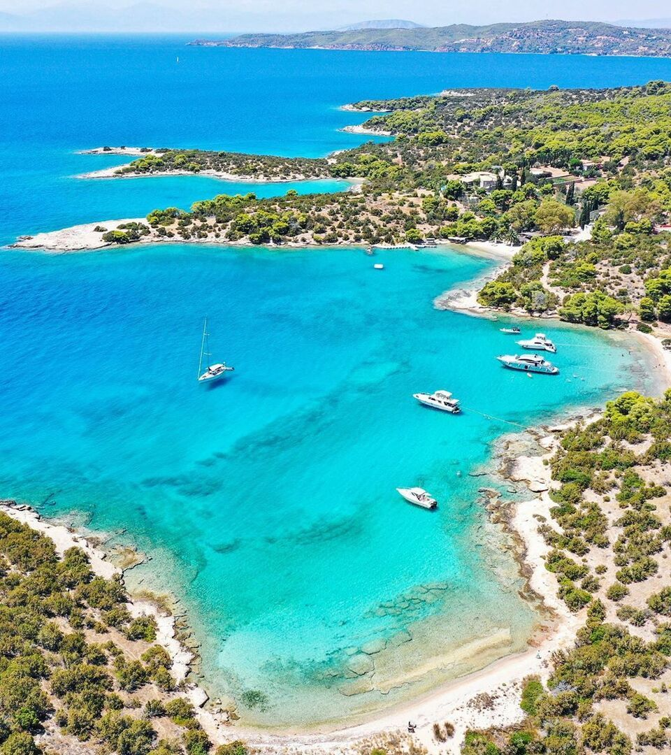 The beaches of Porto Heli
