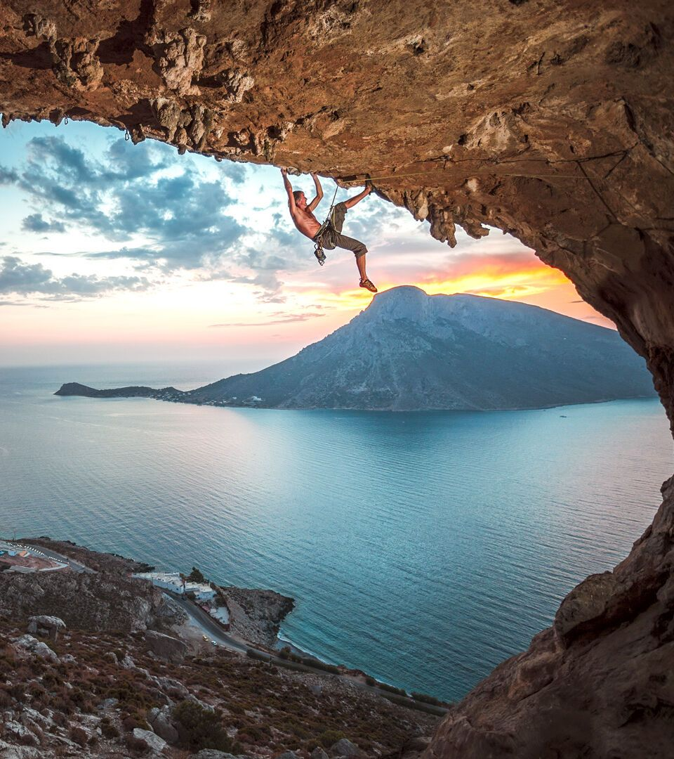 Kalymnos is an international climbing destination, overwatching the island of Telendos