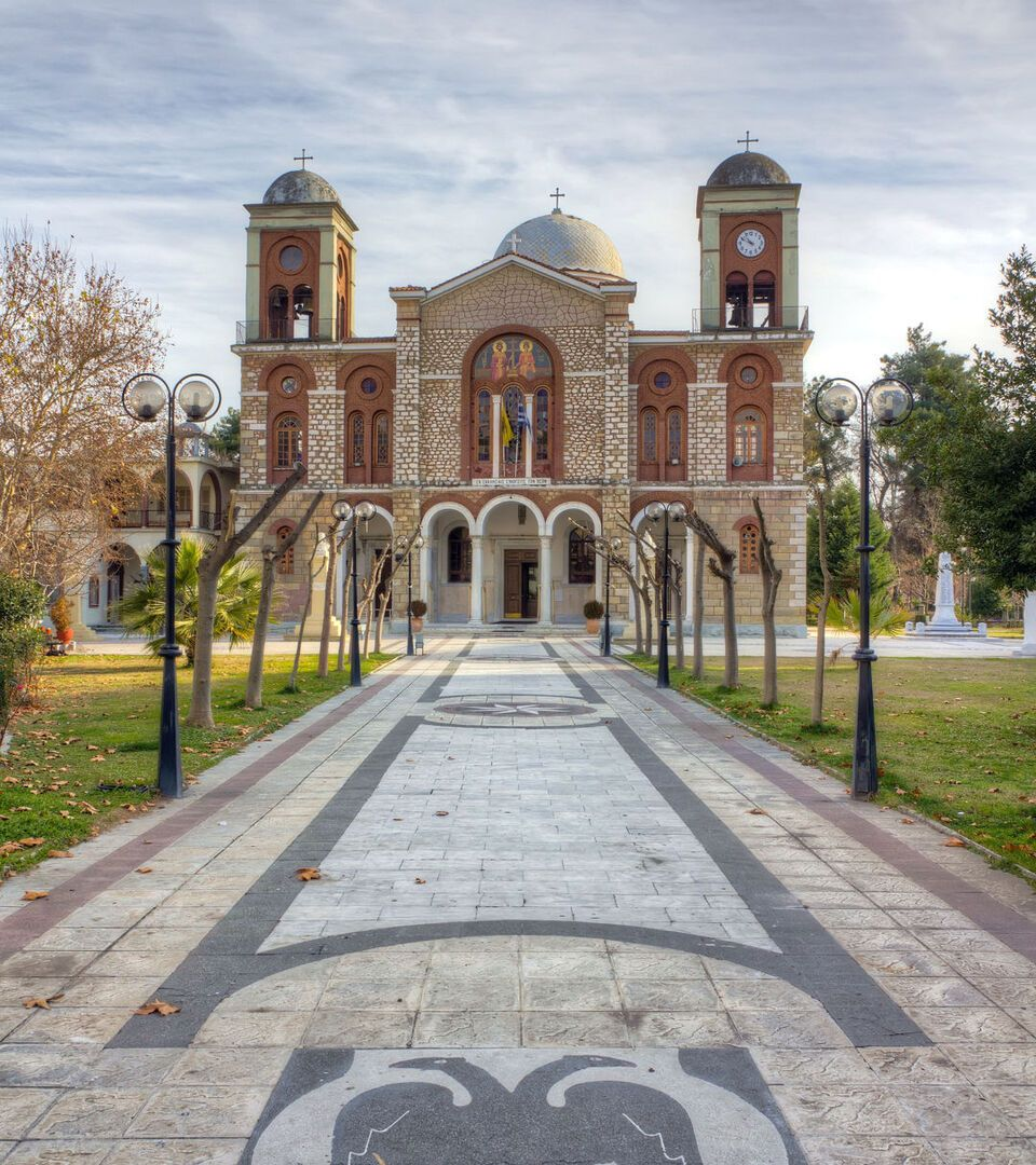 The magnificent Holy Temple of St Constantine in Karditsa town