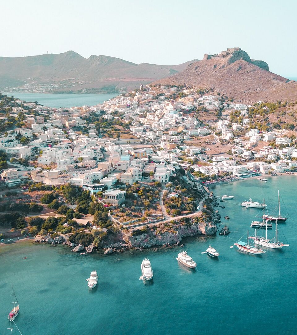 The picturesque village of Agia Marina in beautiful Leros island, Dodecanese