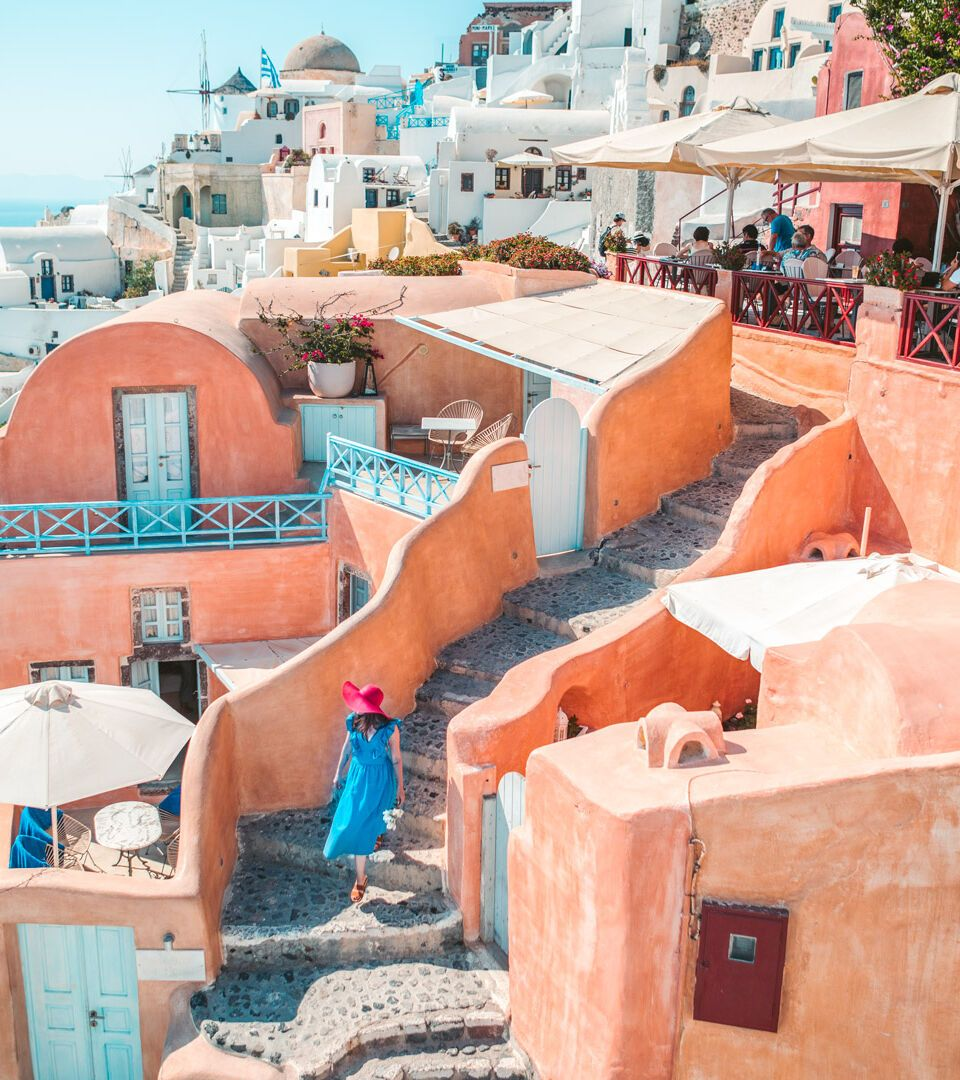 View of Oia, Santorini island