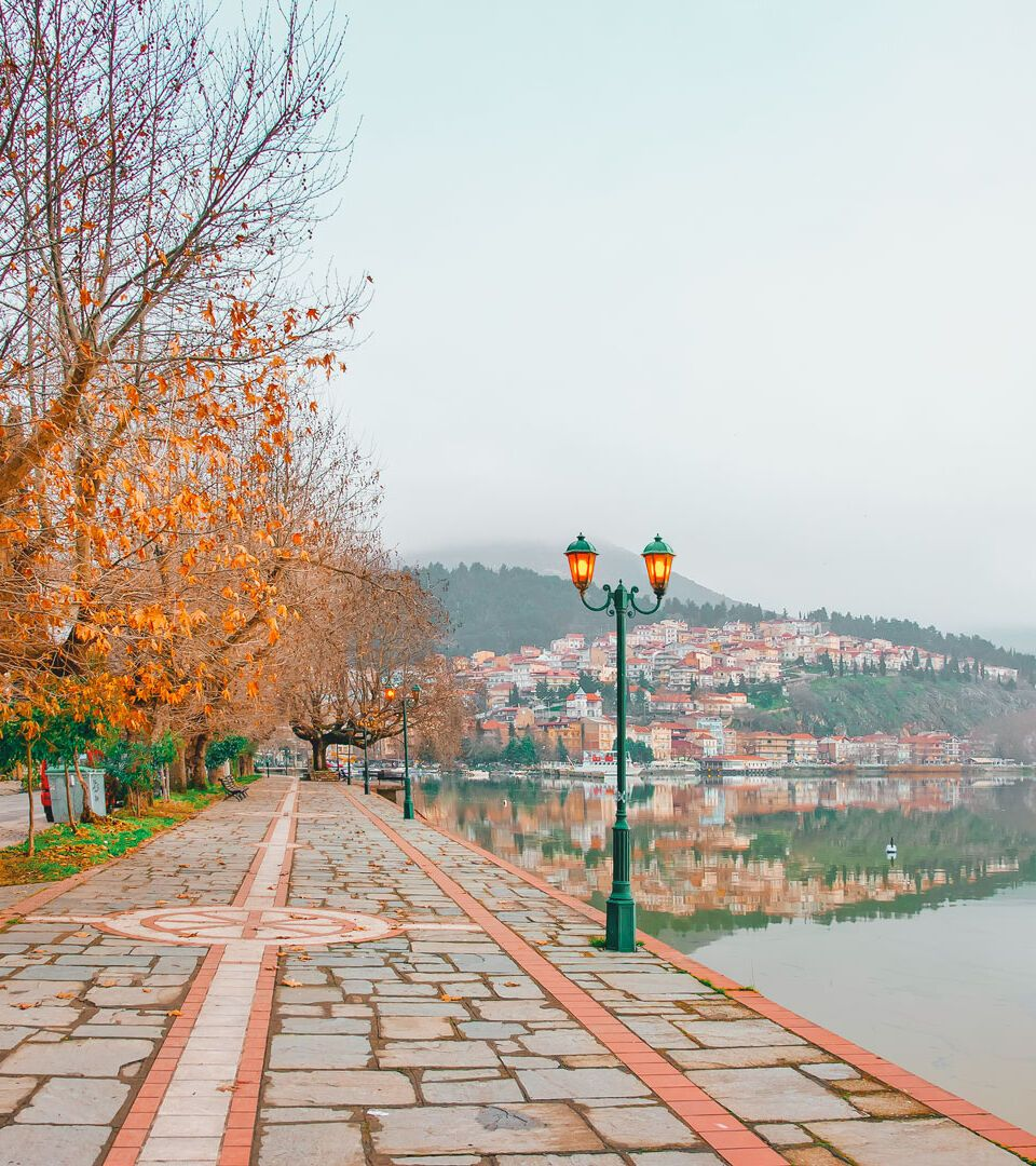 From a distance Kastoria looks like an Impressionist painting