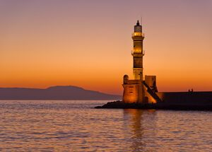 Chania, the iconic lighthouse, built by the Venetians at the turn of the 17th century