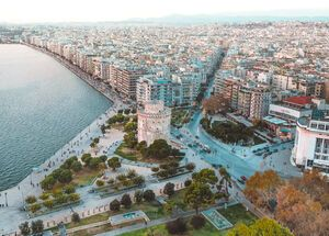 Thessaloniki and the White Tower from above