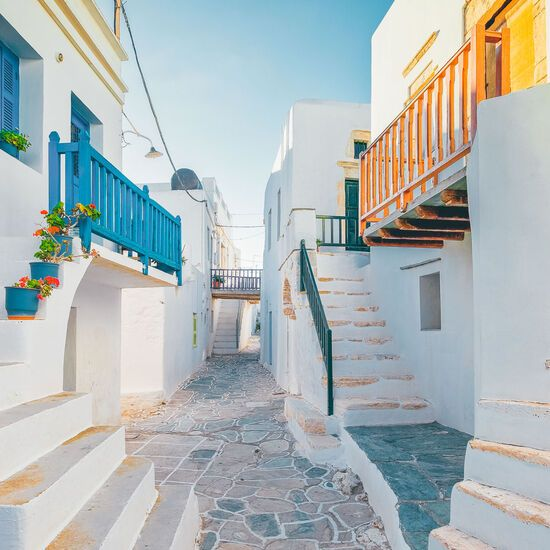 Traditional houses at castle of Folegandros district